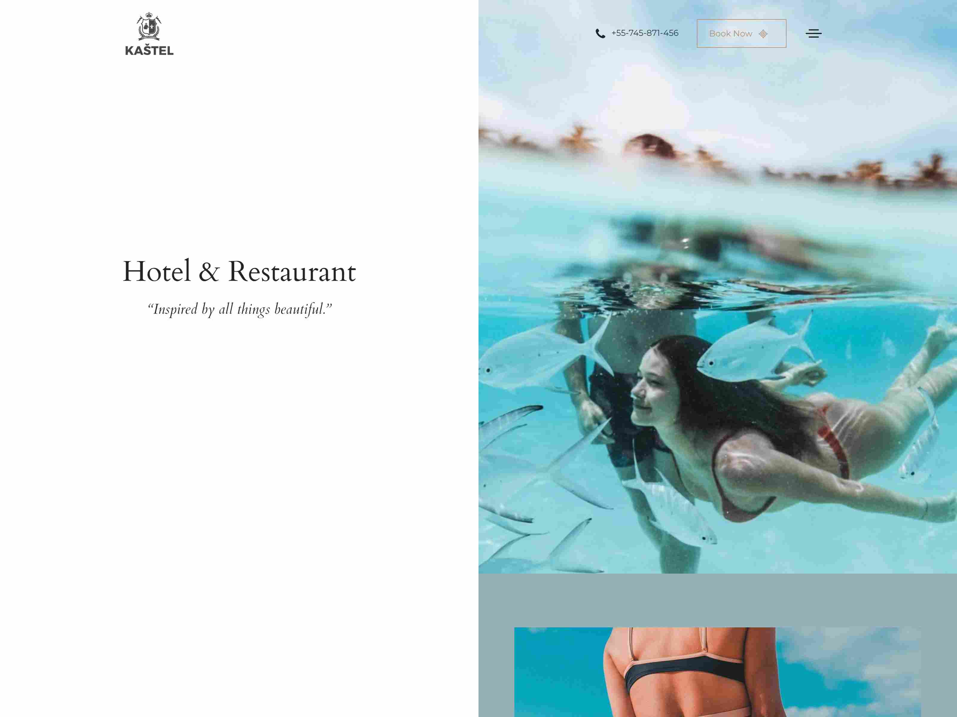 Kastel - Hotel & Restaurant WordPress Theme
