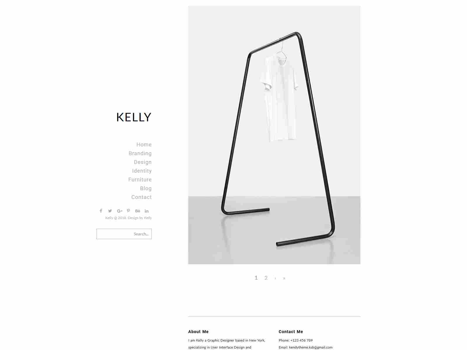 Kelly - Minimal Portfolio & Photography Drupal Theme