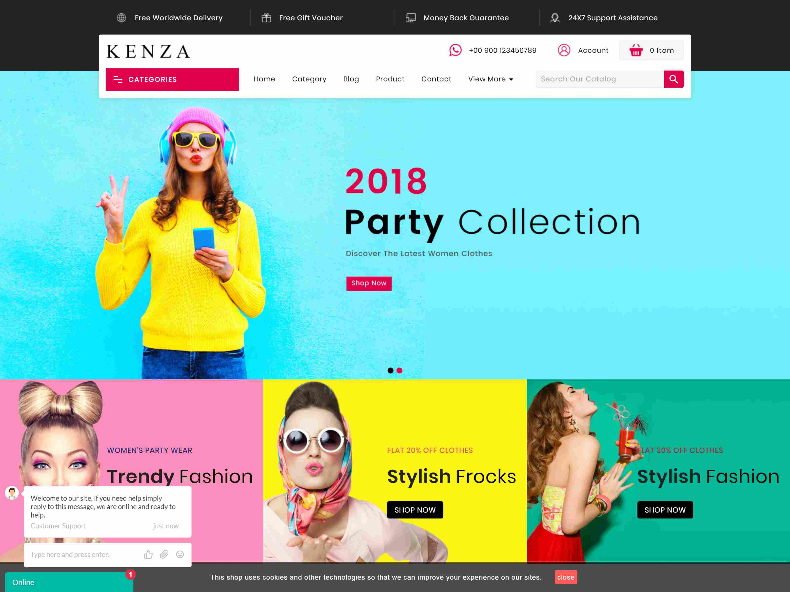 Kenza - Fashion Prestashop 1.7 Responsive Theme