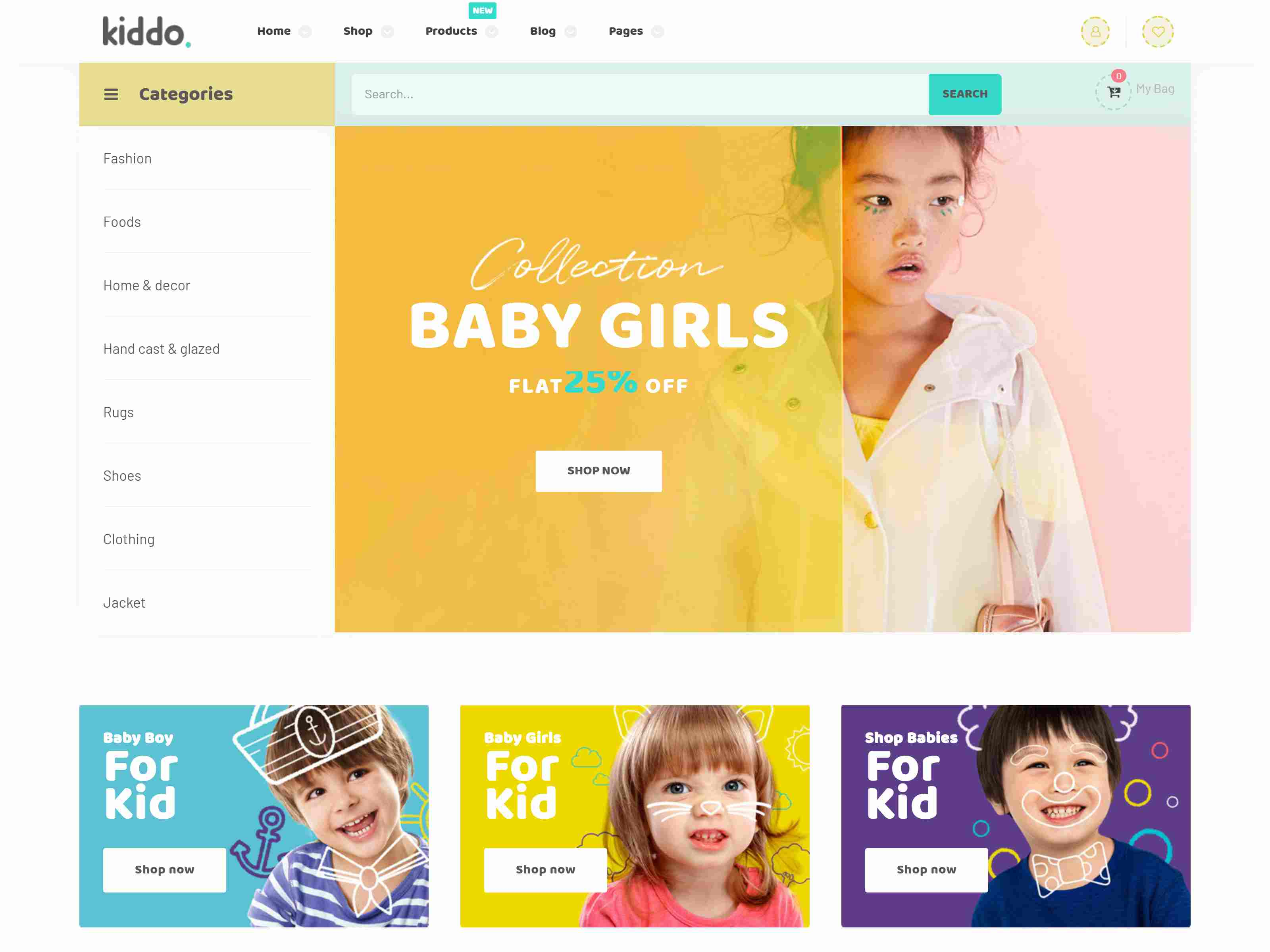 Kiddo - Kid Fashion WooCommerce WordPress Theme