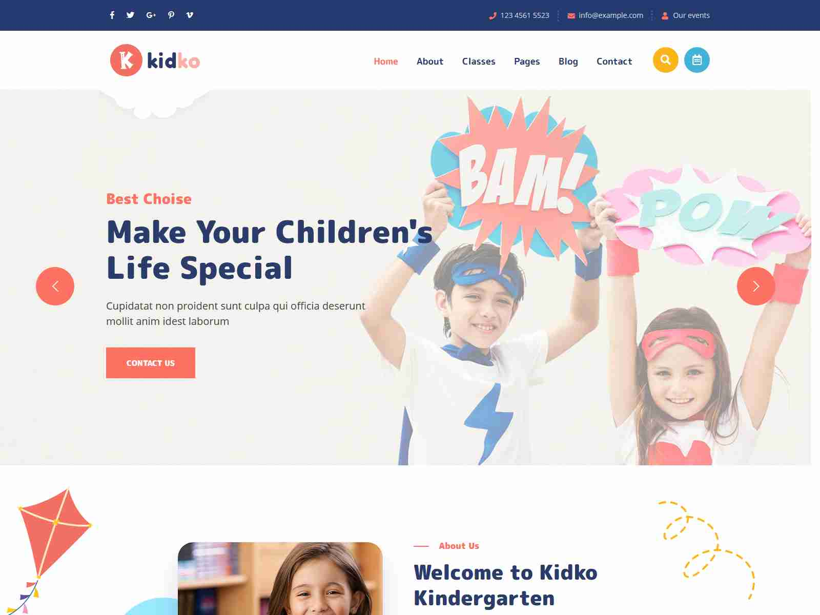 Kidko - Kindergarten & Baby Care WordPress Theme