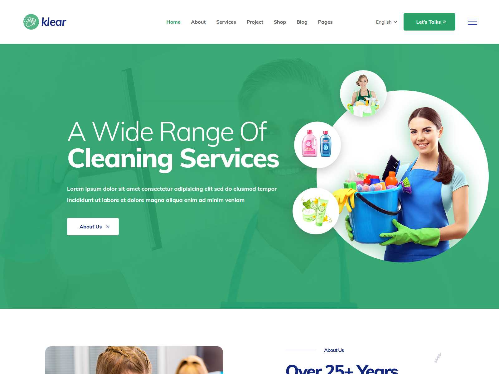 Klear - Cleaning Service Company WordPress Theme + RTL