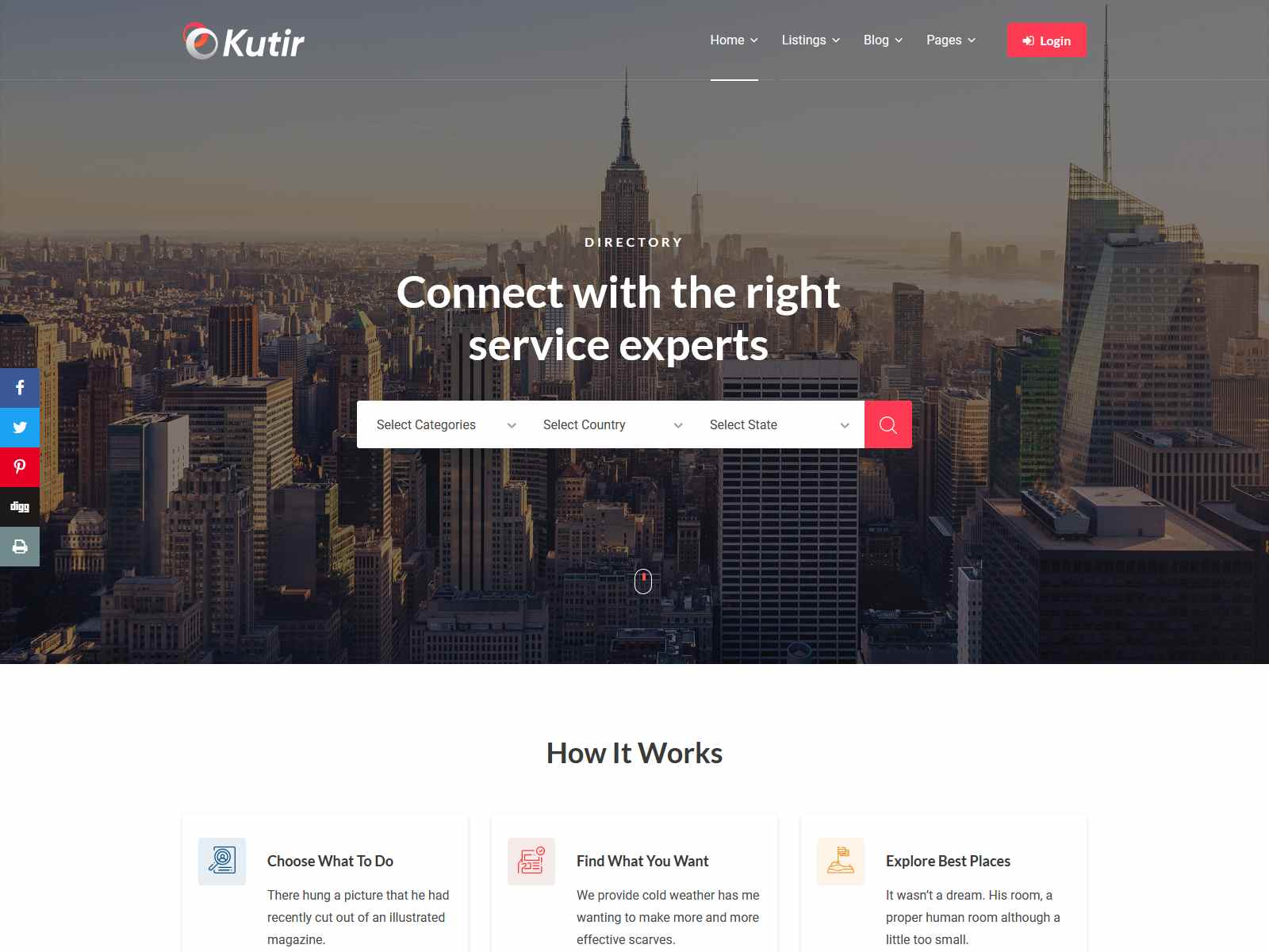 Kutir - Directory Listing WordPress Theme