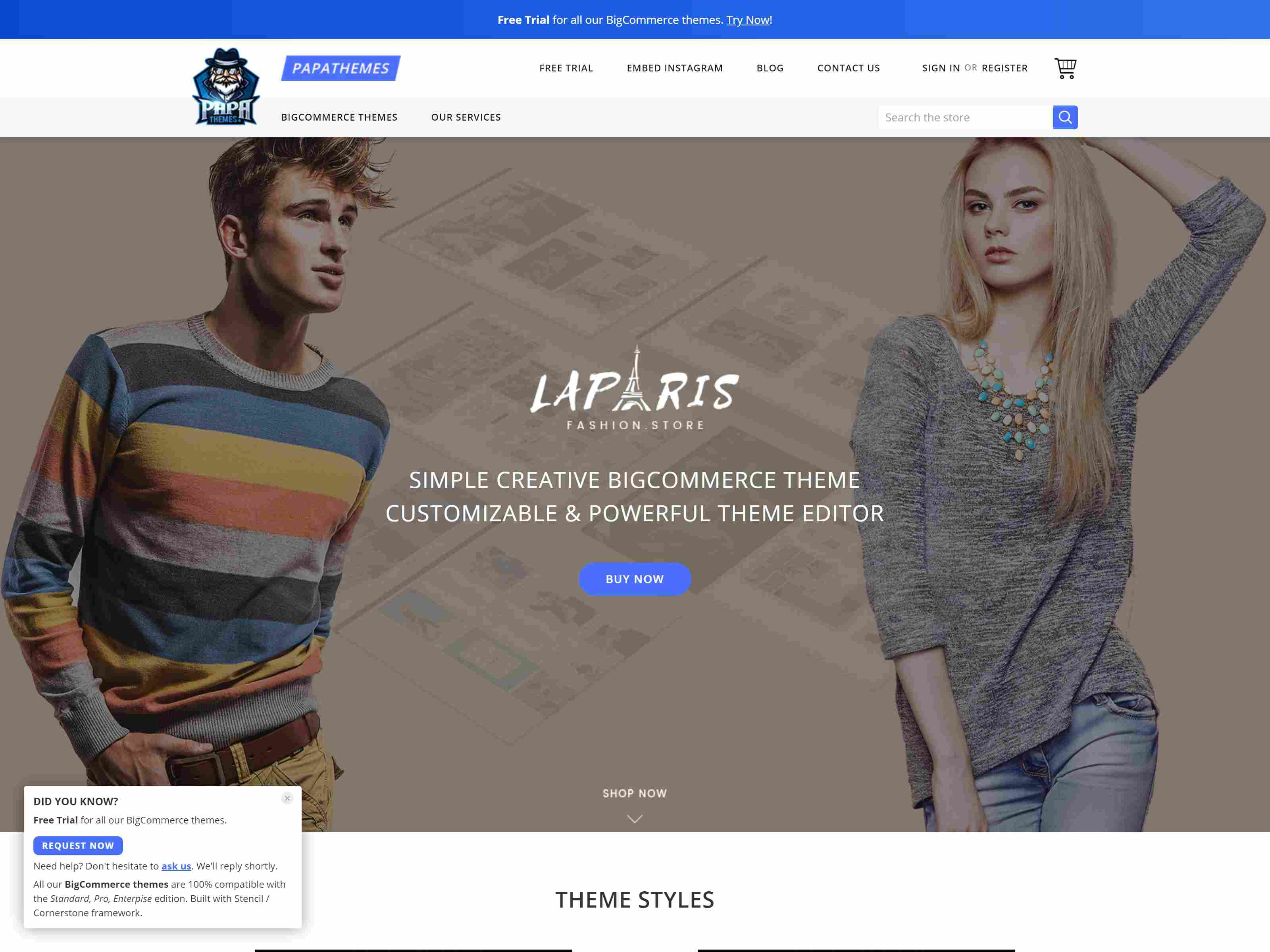 LaParis - Simple Creative Responsive BigCommerce Theme - Stencil Based Clothing BigCommerce Themes