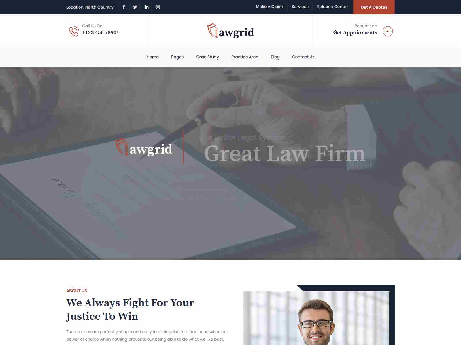 Lawgrid - Lawyer & Attorney WordPress Theme Consulting Firms WordPress Themes