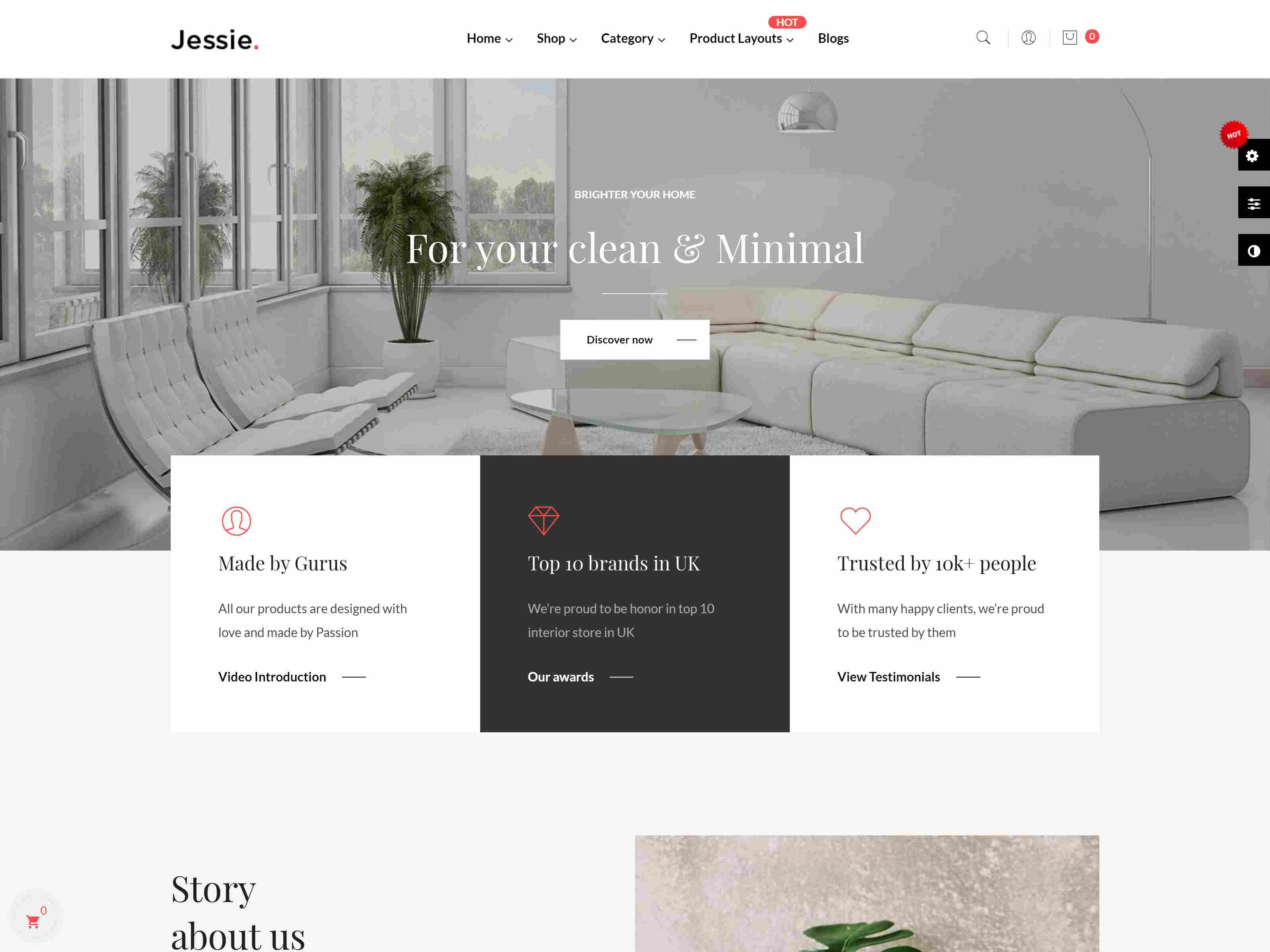 Leo Jessie - Clean Furniture Prestashop 1.7 Theme