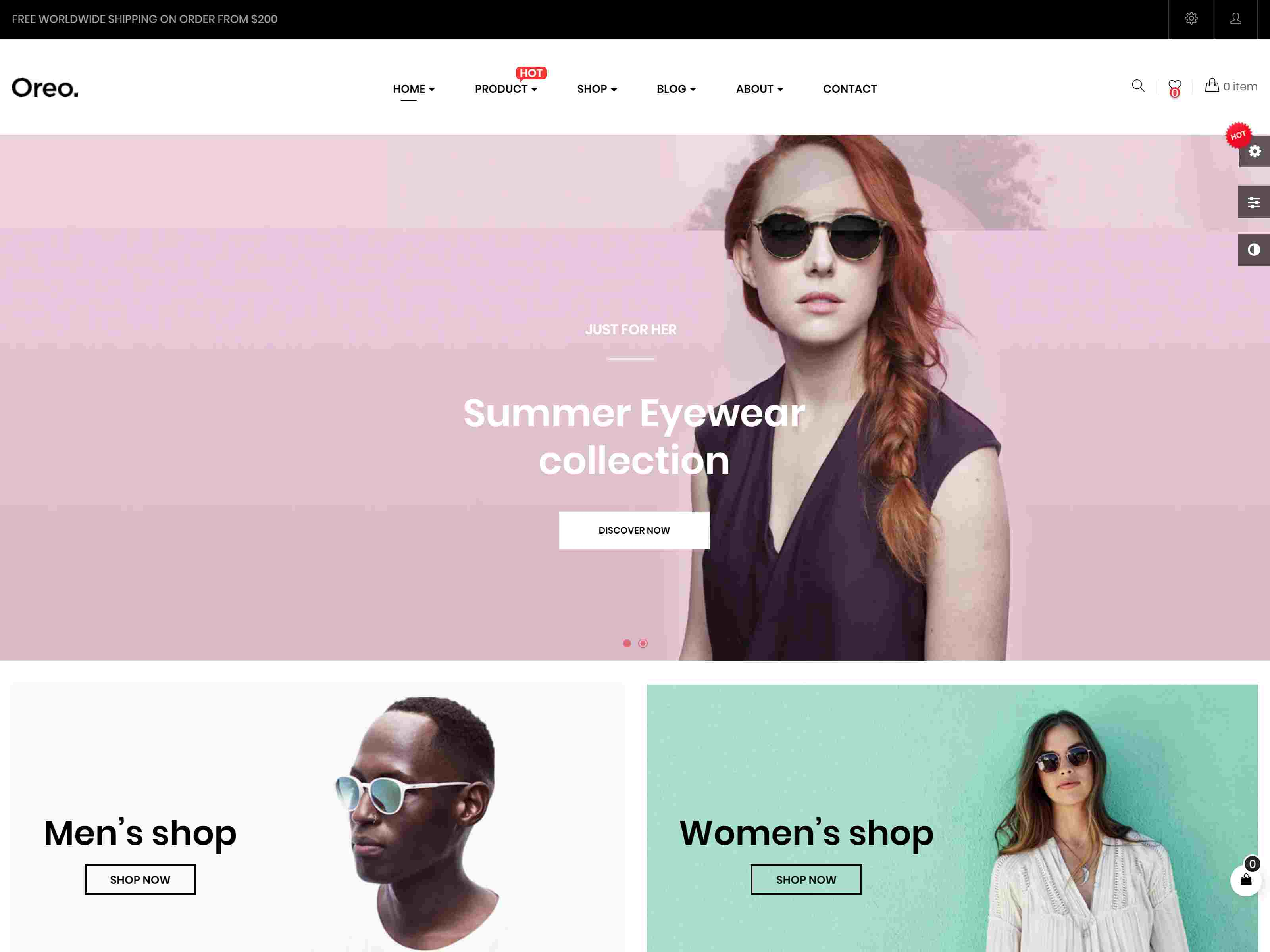 Leo Oreo - Advanced Fashion Prestashop 1.7 Theme for Glasses & Minimal Shop