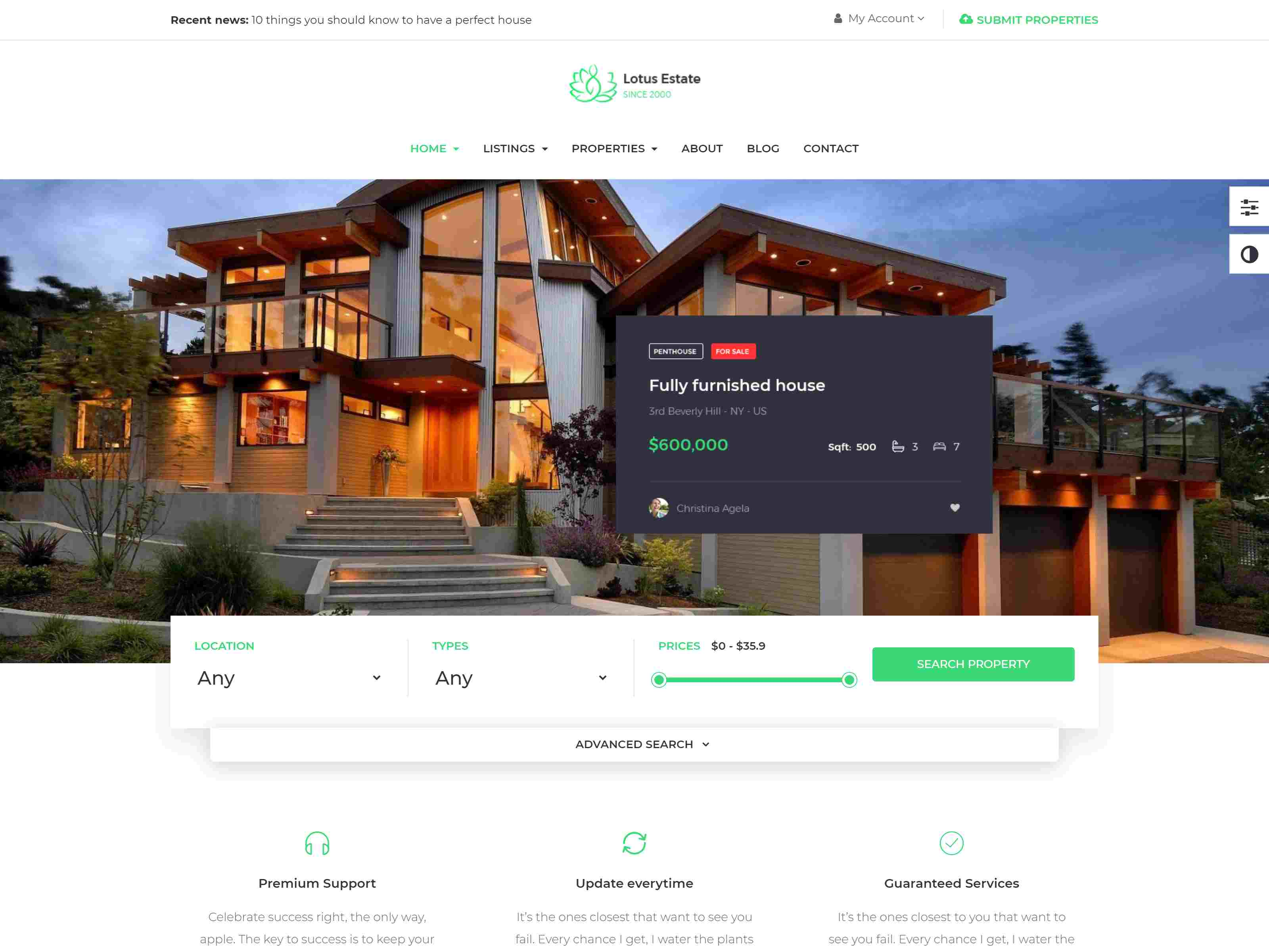 Leo Real Estate – Booking and  Rental Prestashop 1.7 Theme