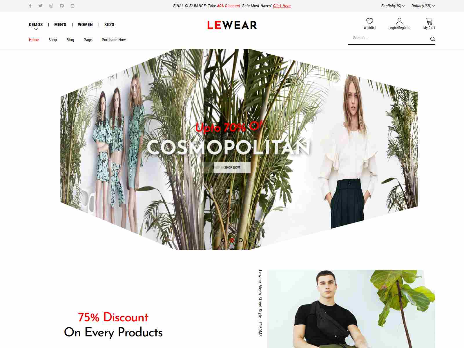 Lewear - Fashion Multipurpose WooCommerce Theme