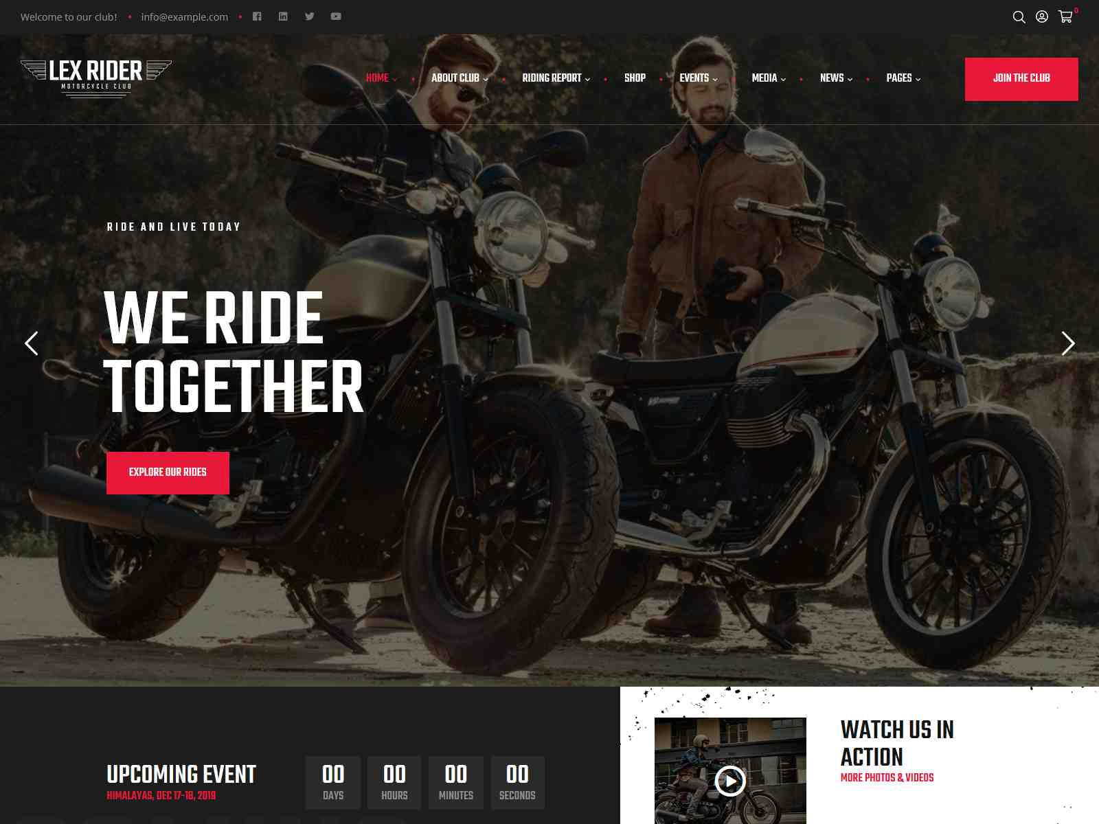 Best Premium Motorcycle WordPress Themes