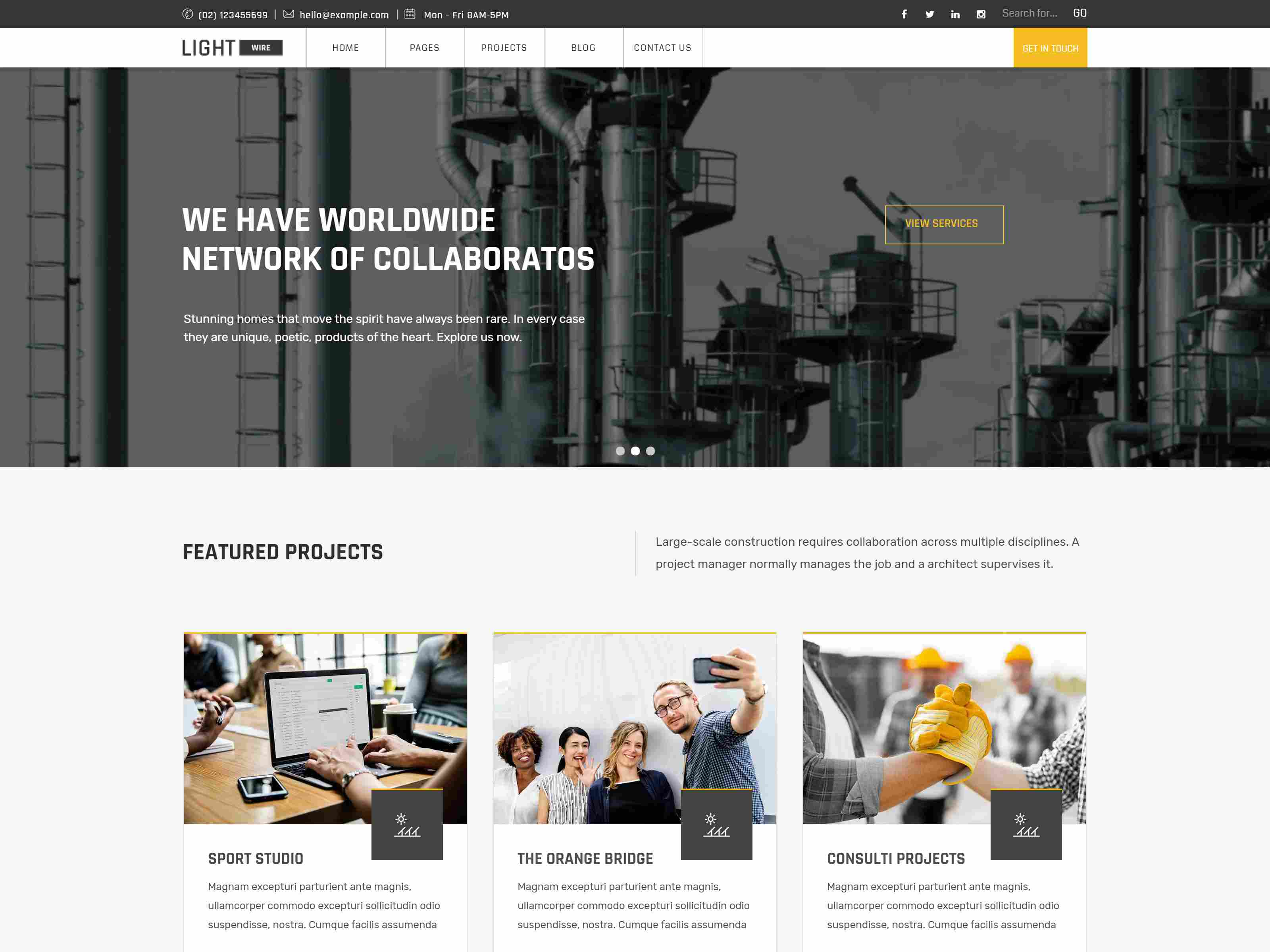 Lightwire - Construction And Industry Drupal 8.8 Theme