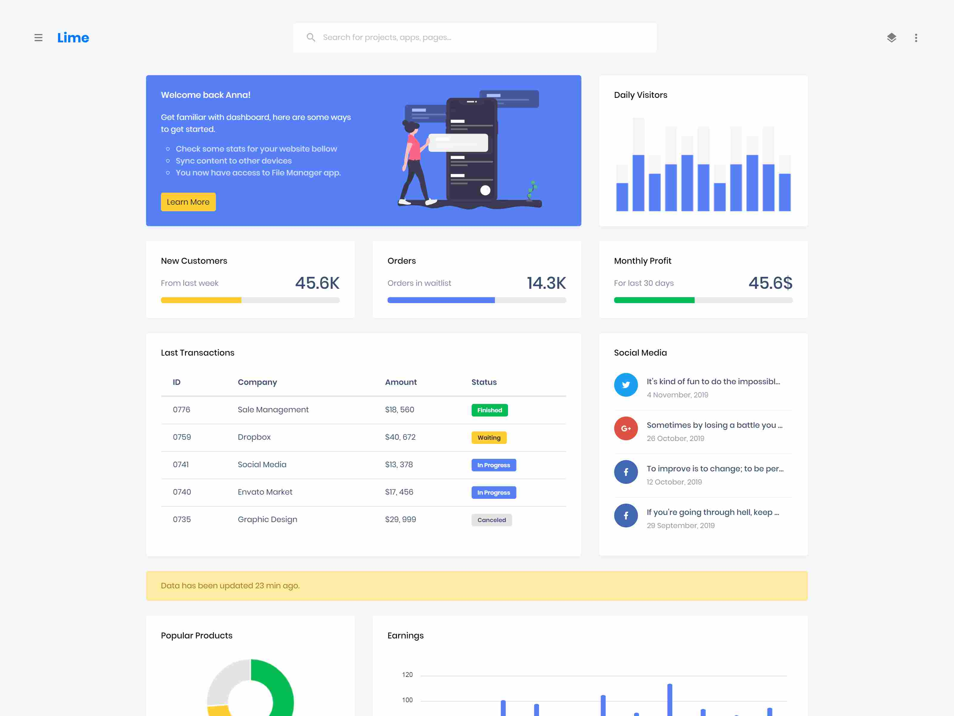 Lime - Responsive Admin Dashboard Template