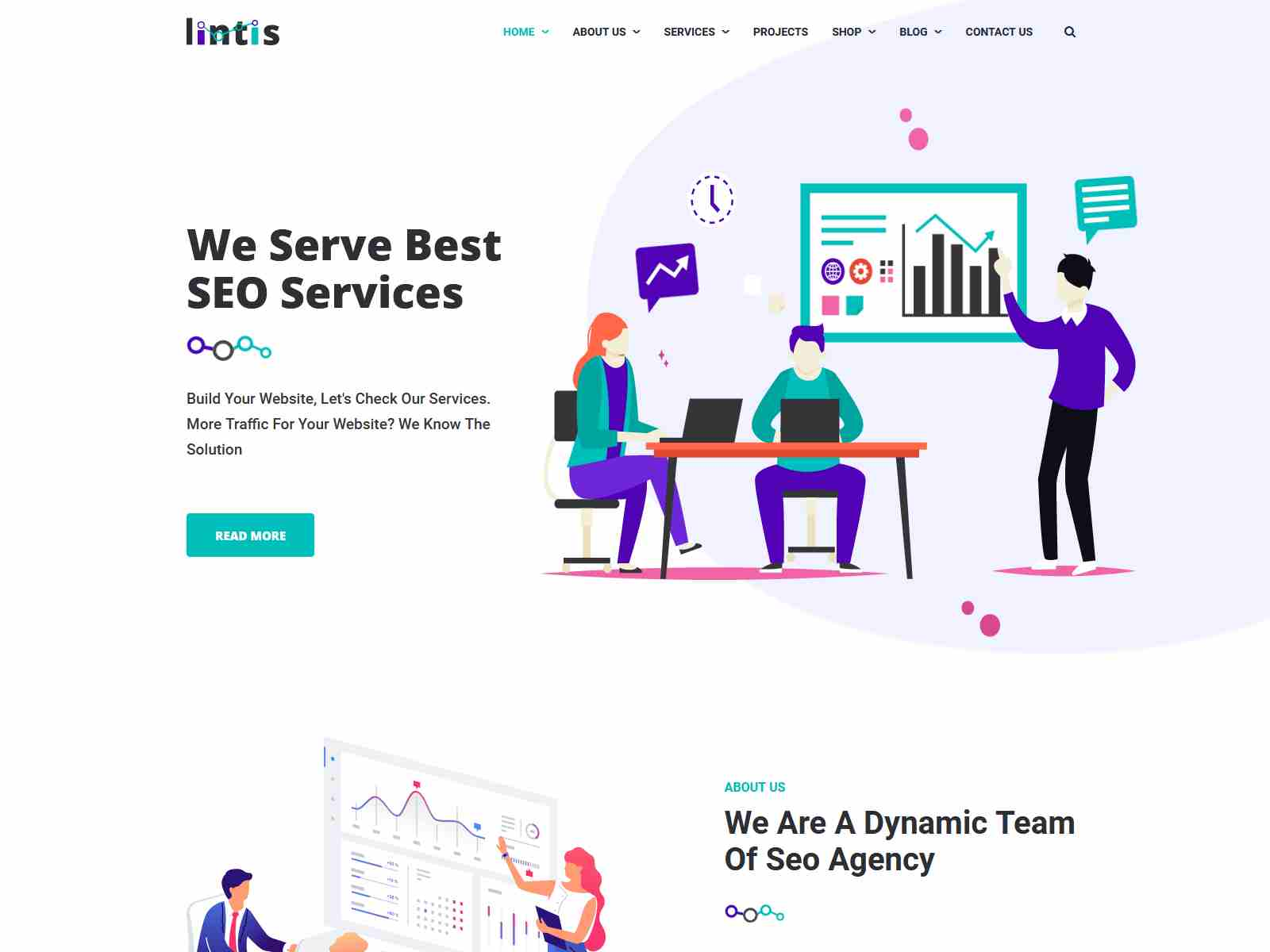 Lintis- SEO and Digital Agency WordPress Theme