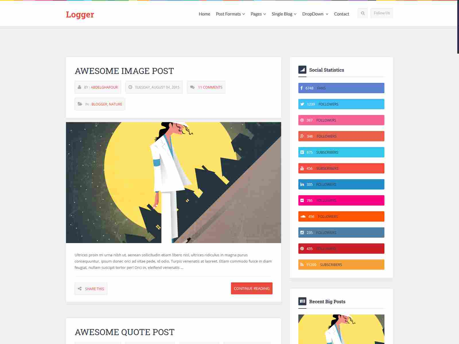 Logger - Responsive Personal Blogging Template