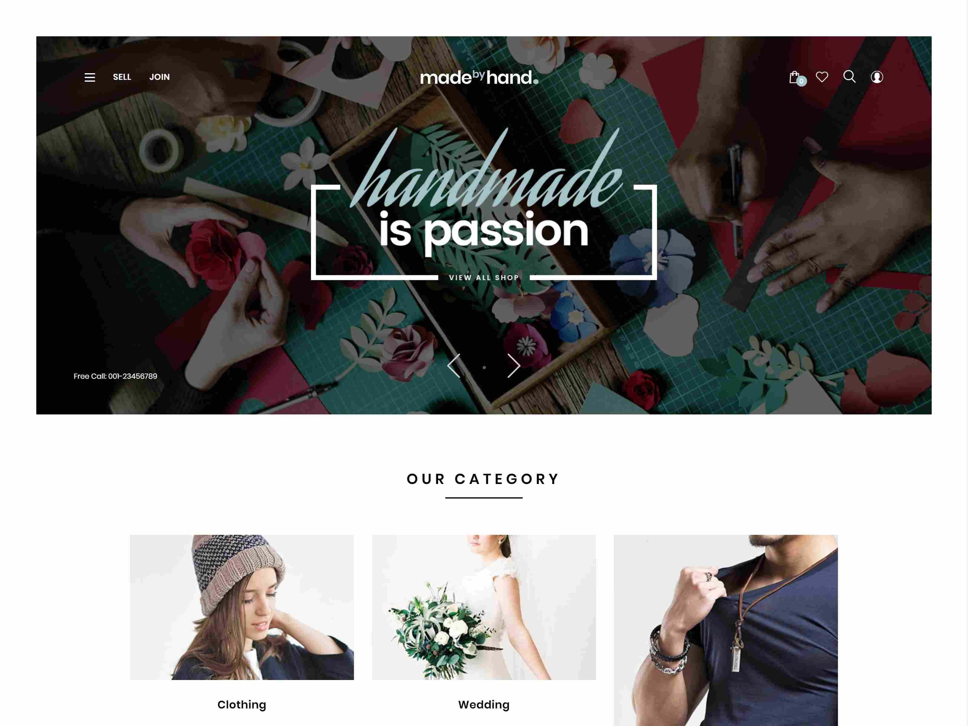 MadebyHand - Minimal Handmade eCommerce WordPress Theme