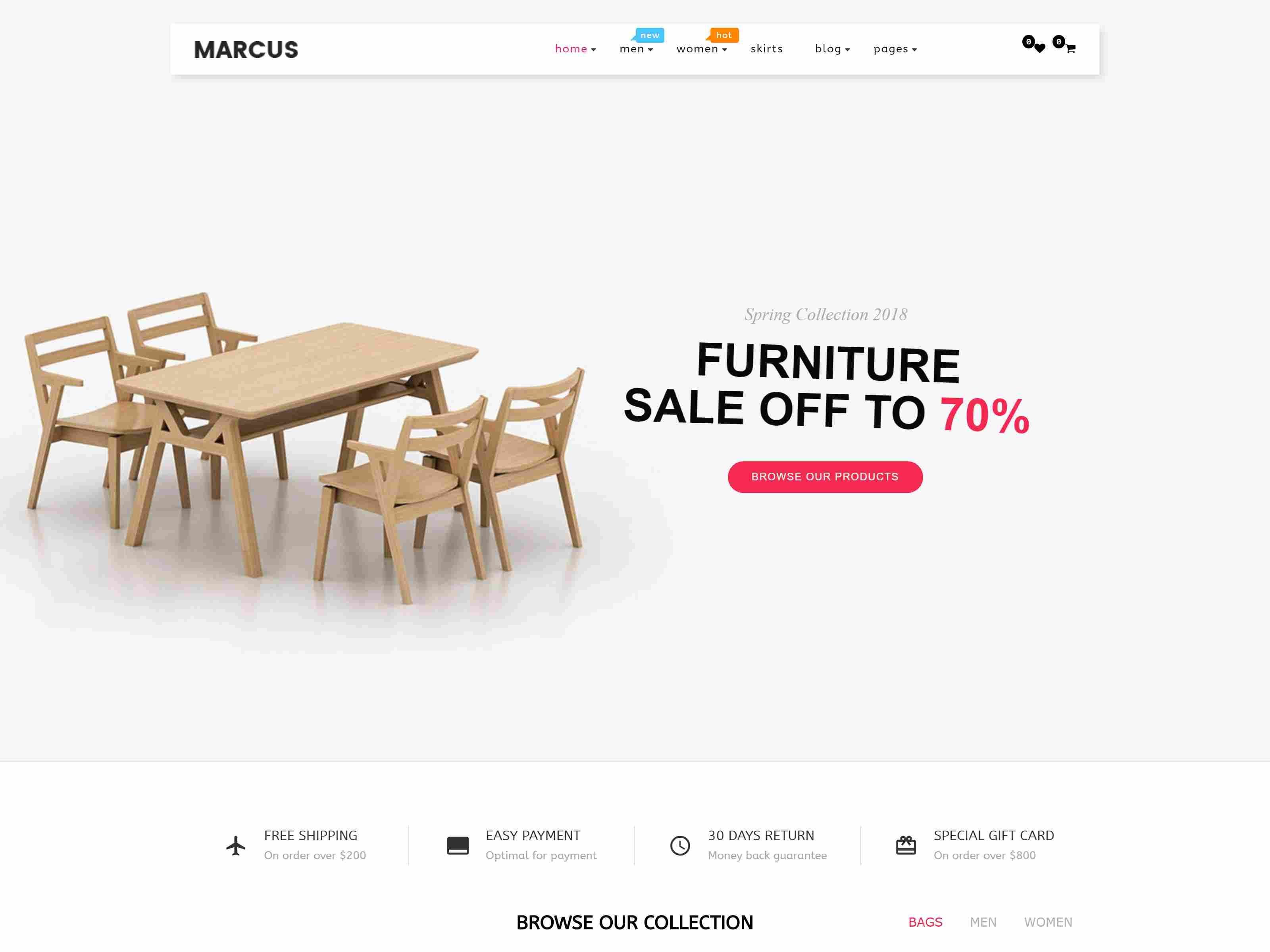 Marcus - Responsive Multipurpose Virtuemart Theme