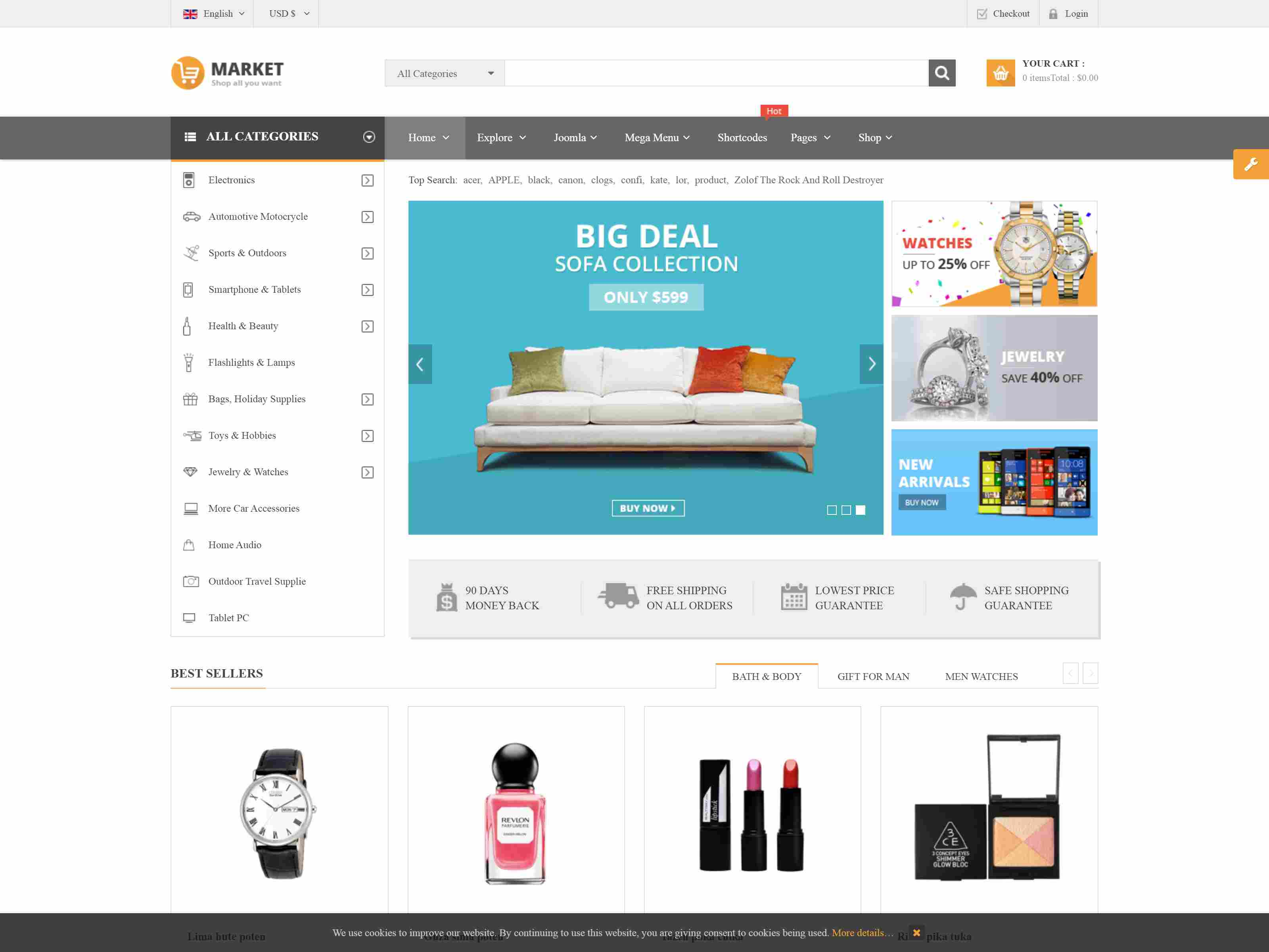 Market - Responsive Multipurpose VirtueMart Theme