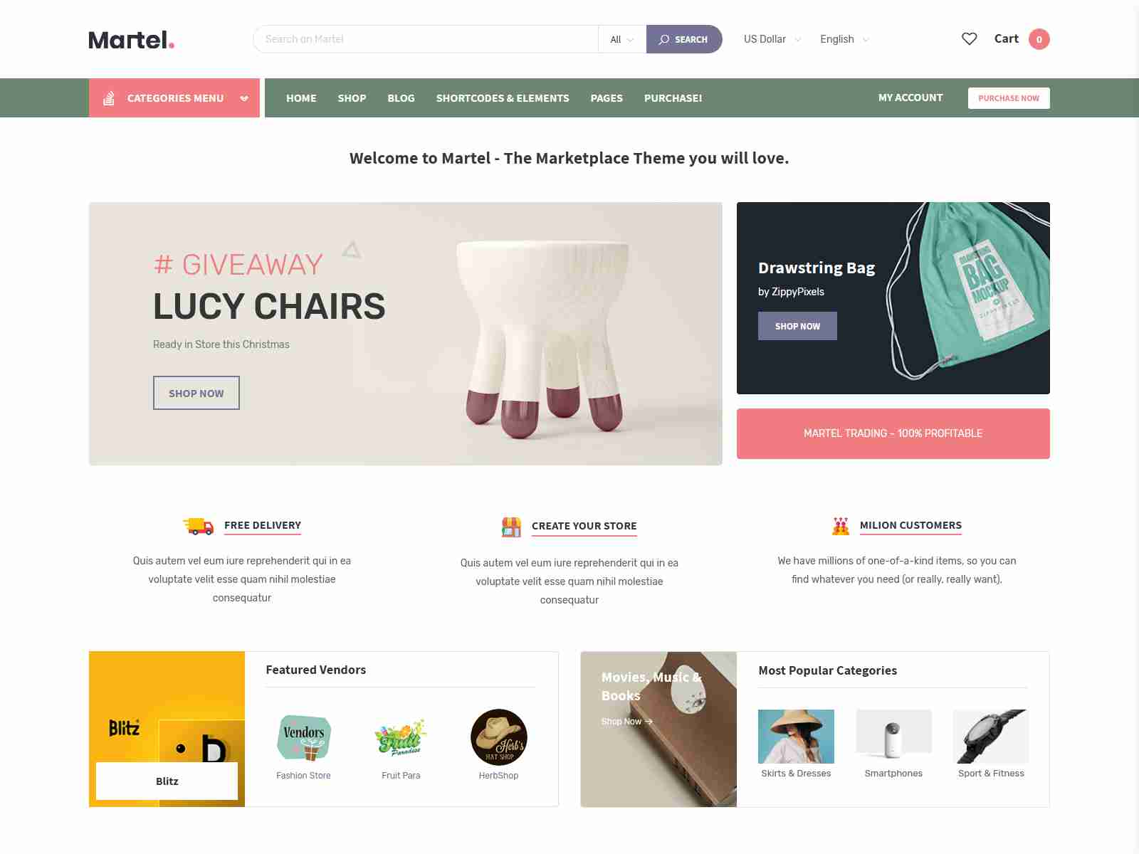 Martel - Modern eCommerce Marketplace WordPress Theme