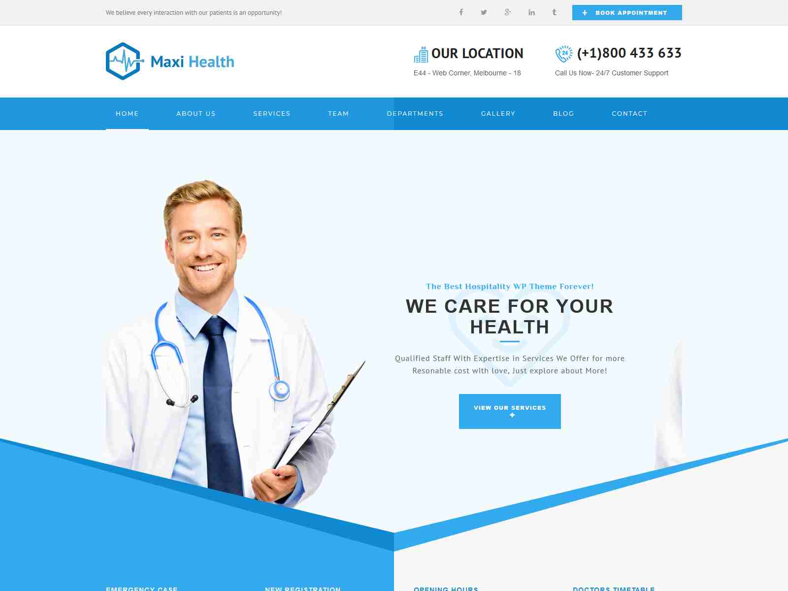 Maxi Health : Responsive Medical Joomla Template