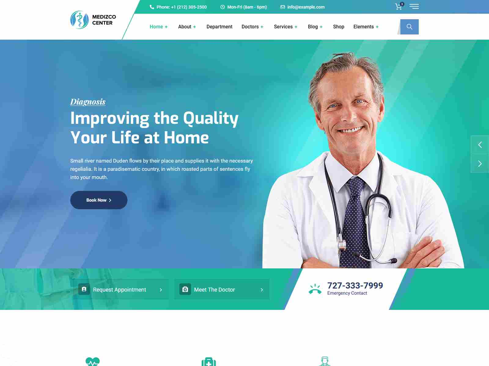 Medizco - Medical Health & Dental Care Clinic WordPress Theme