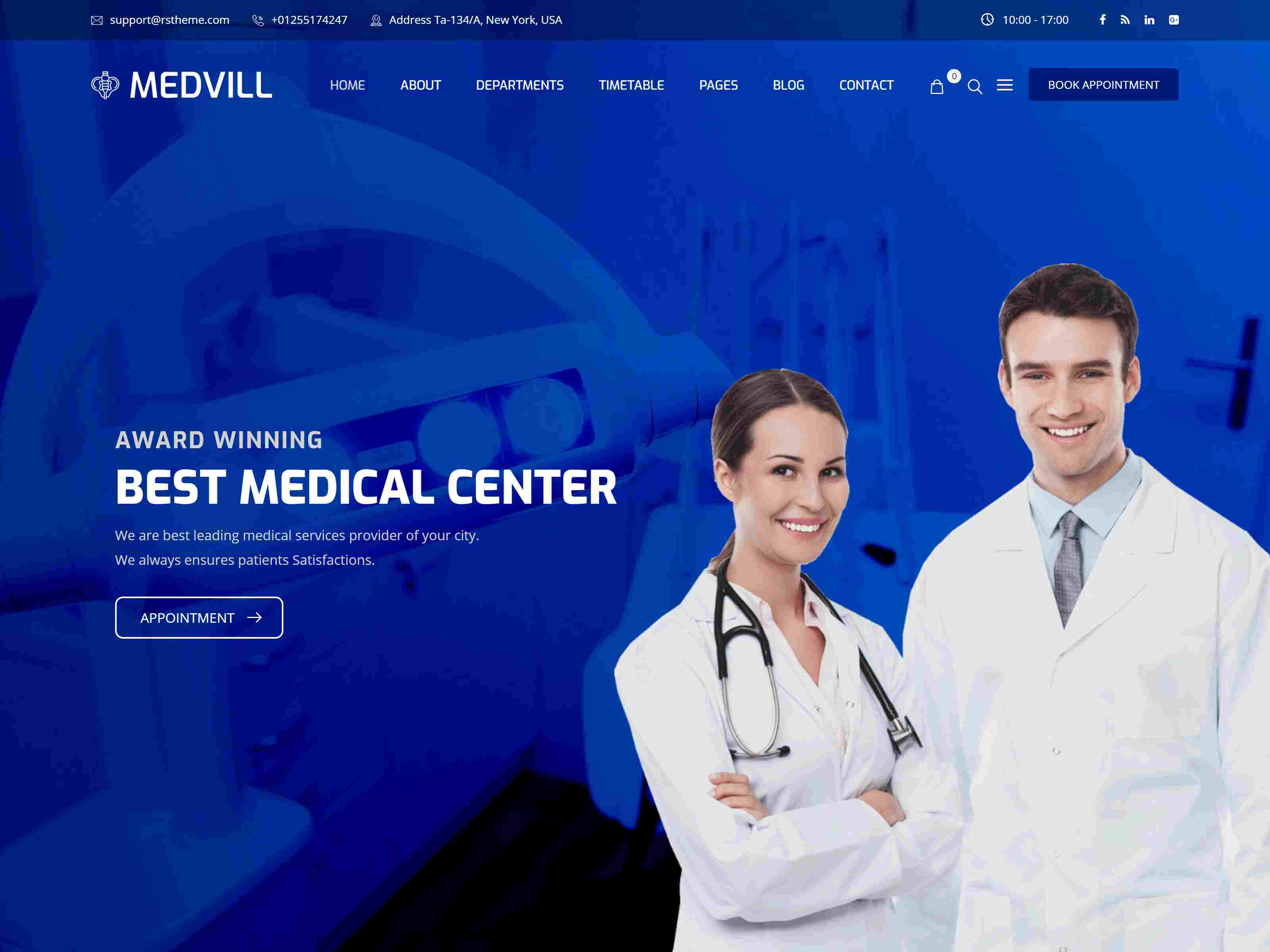 Medvill - Health & Medical WordPress Theme