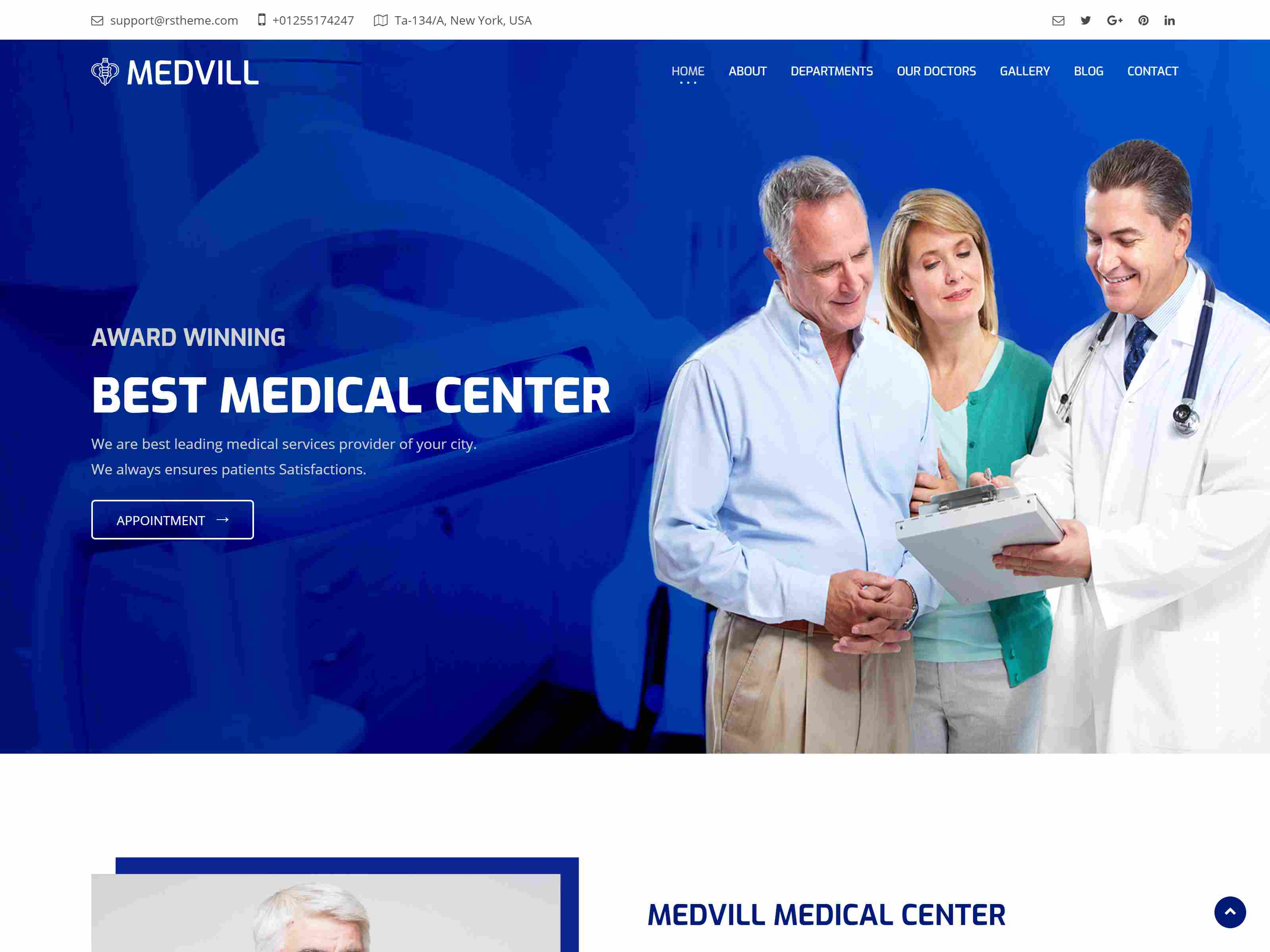 Medvill - Medical Joomla Template