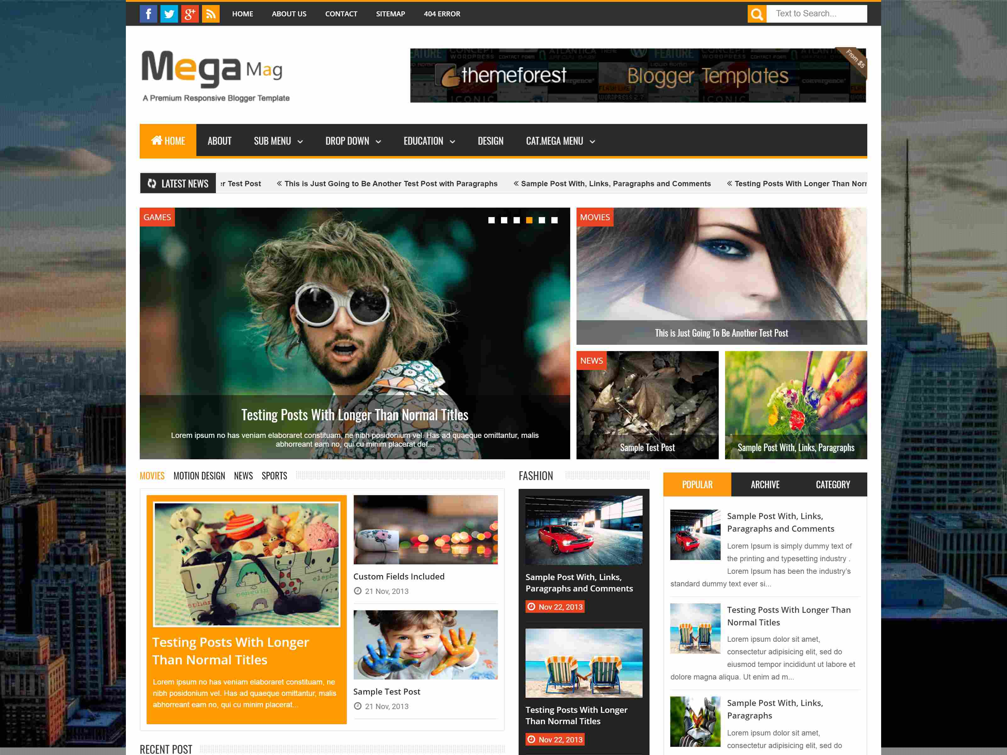 Best Premium Maintenance Blogger Themes