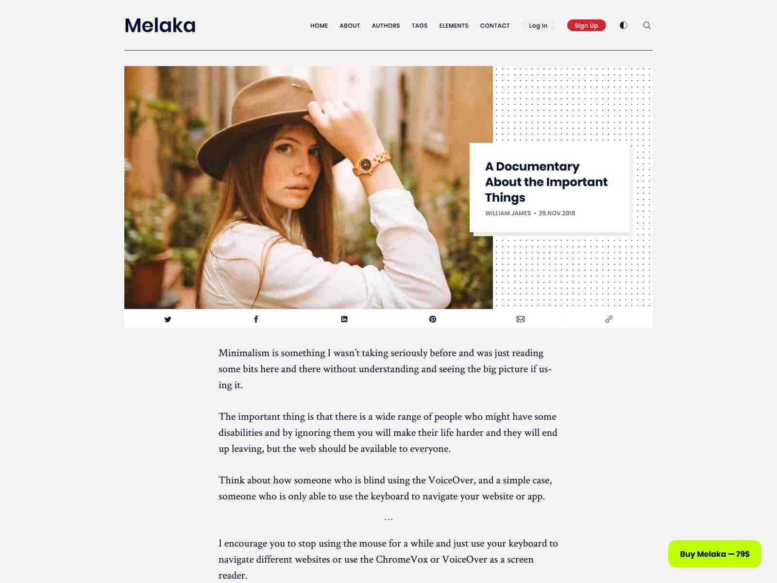 Melaka - Blog and Magazine Ghost 3.0 Theme