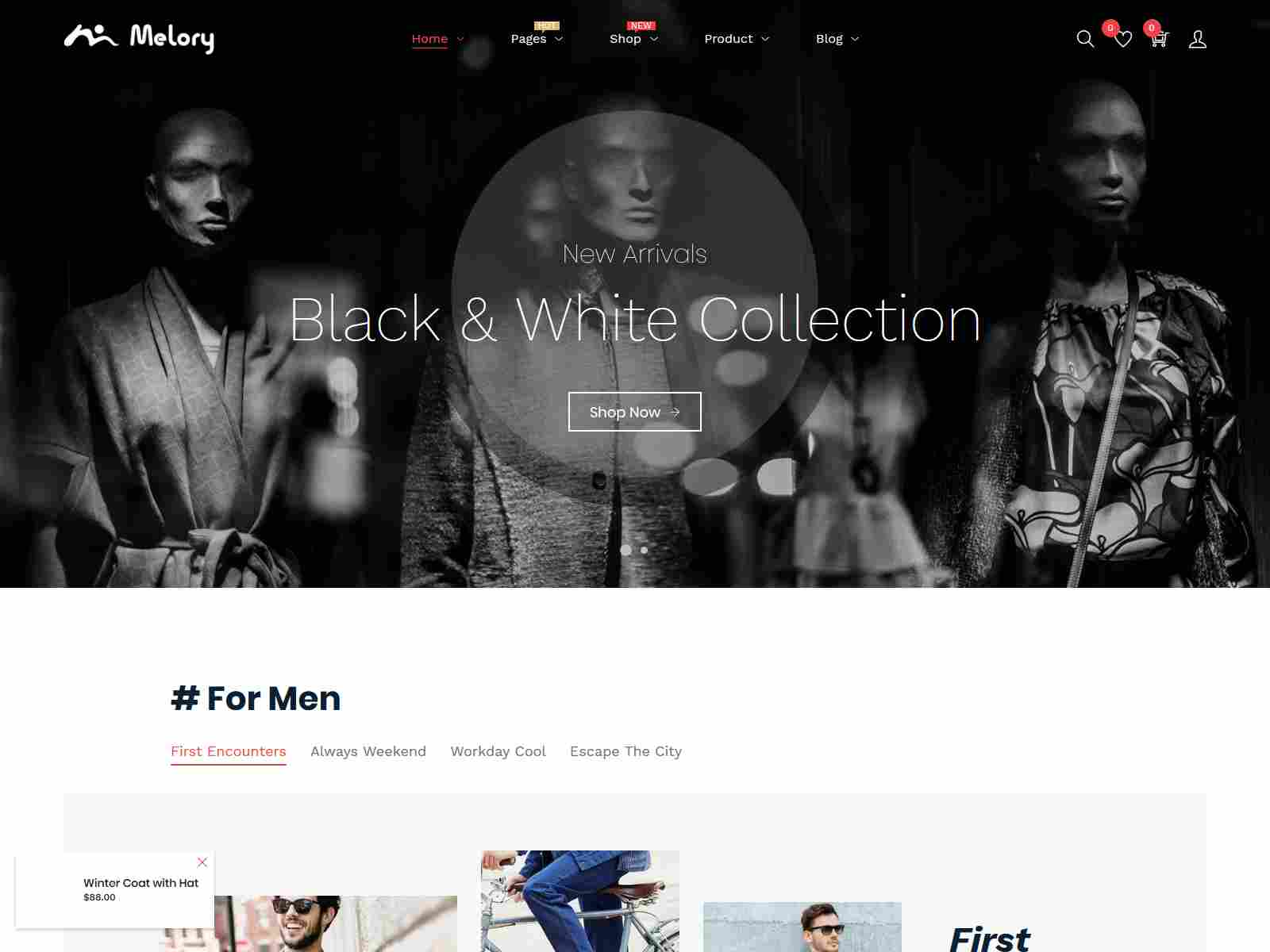 Melory - Minimal Costume Store Shopify Theme