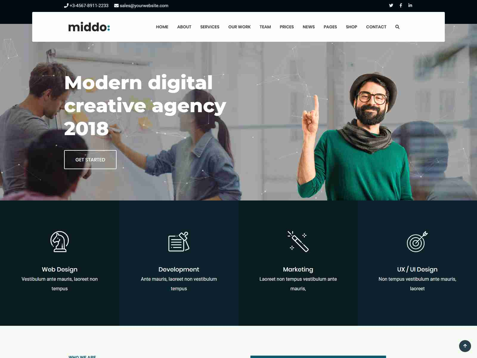 Middo - Modern & Clean Multiporpose WordPress Theme Insurance Company WordPress Themes