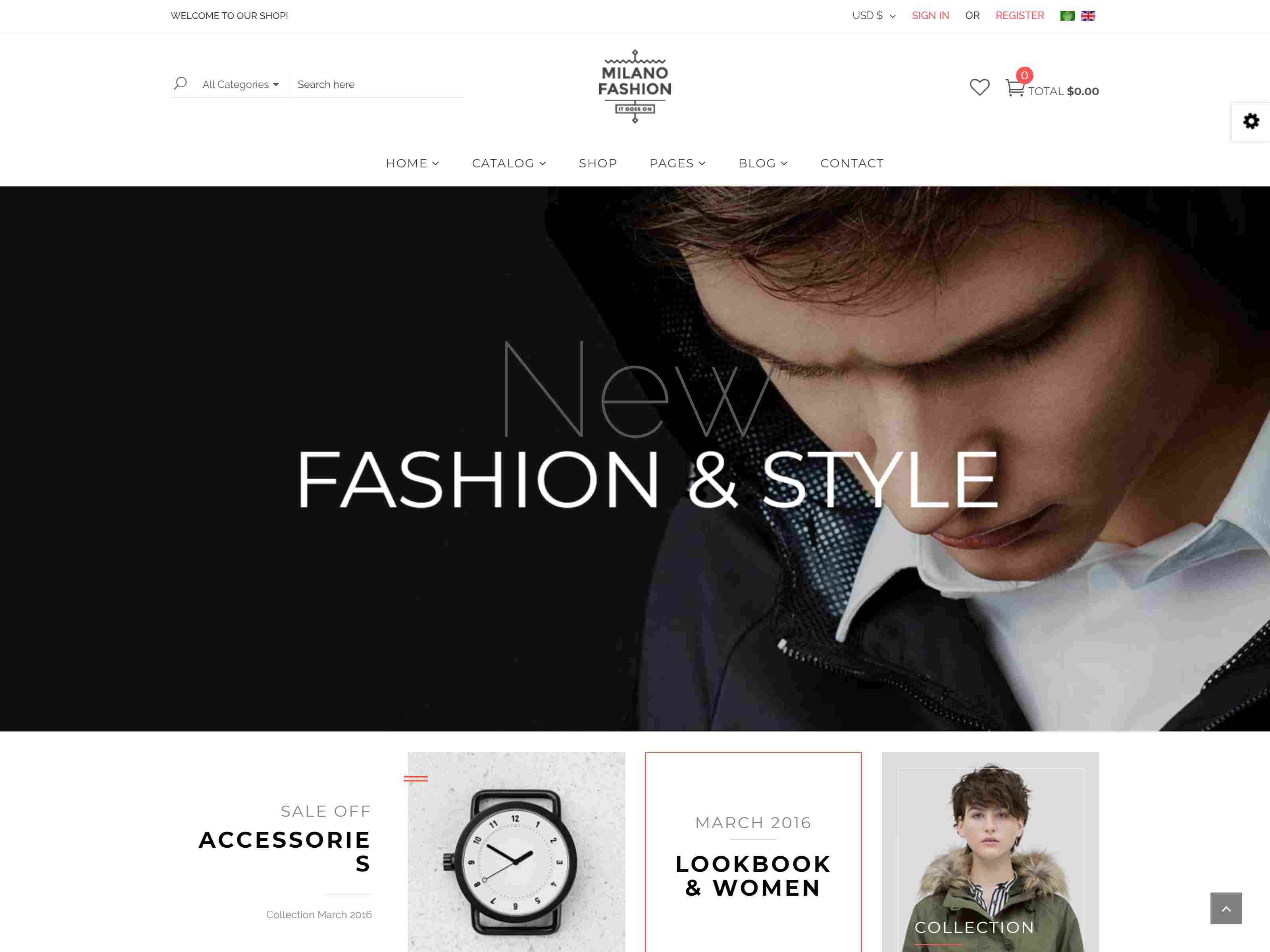 Milano - Fashion Responsive Virtuemart Template
