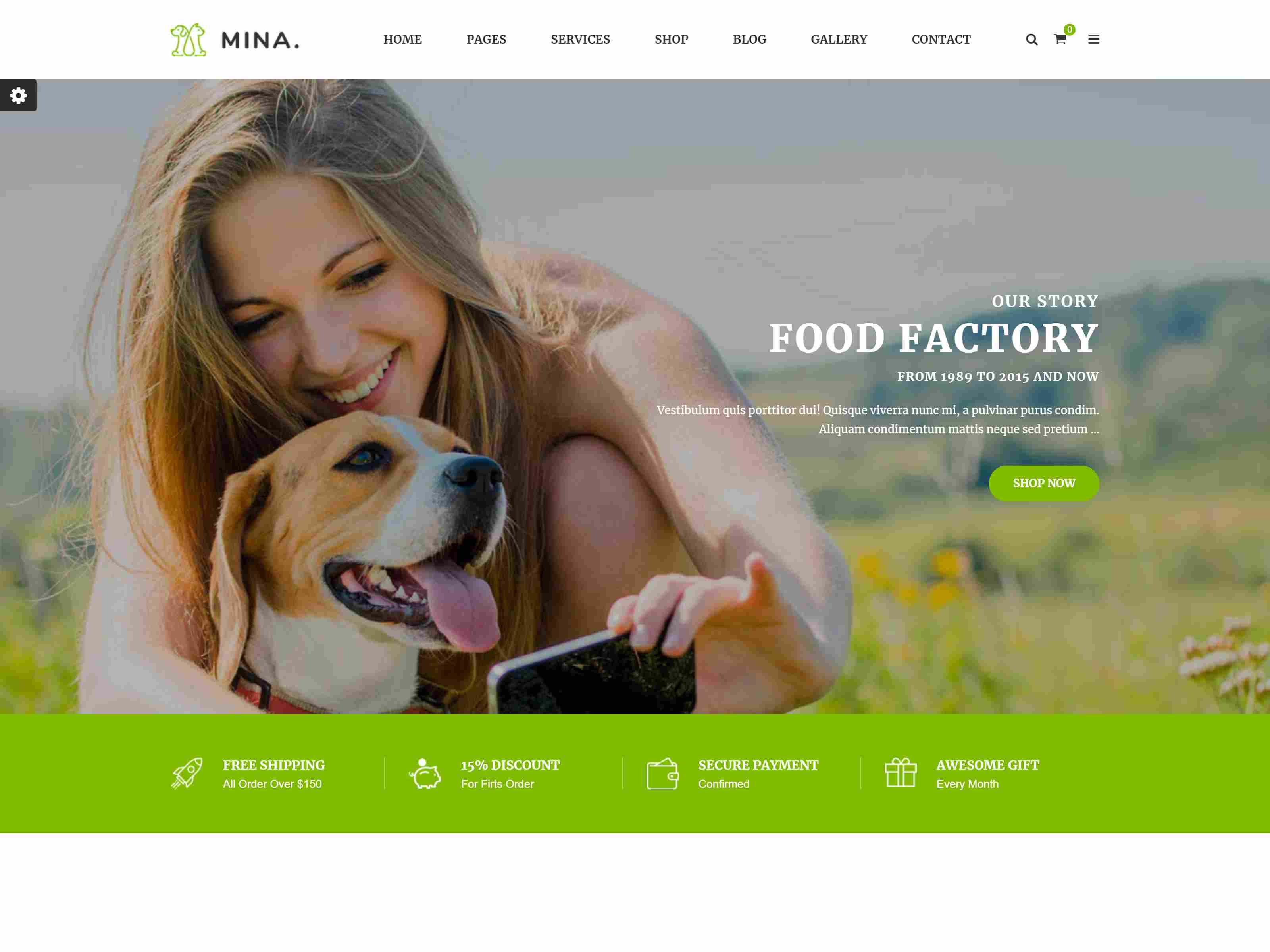 Mina - Pet Shop Responsive PrestaShop 1.7 Theme