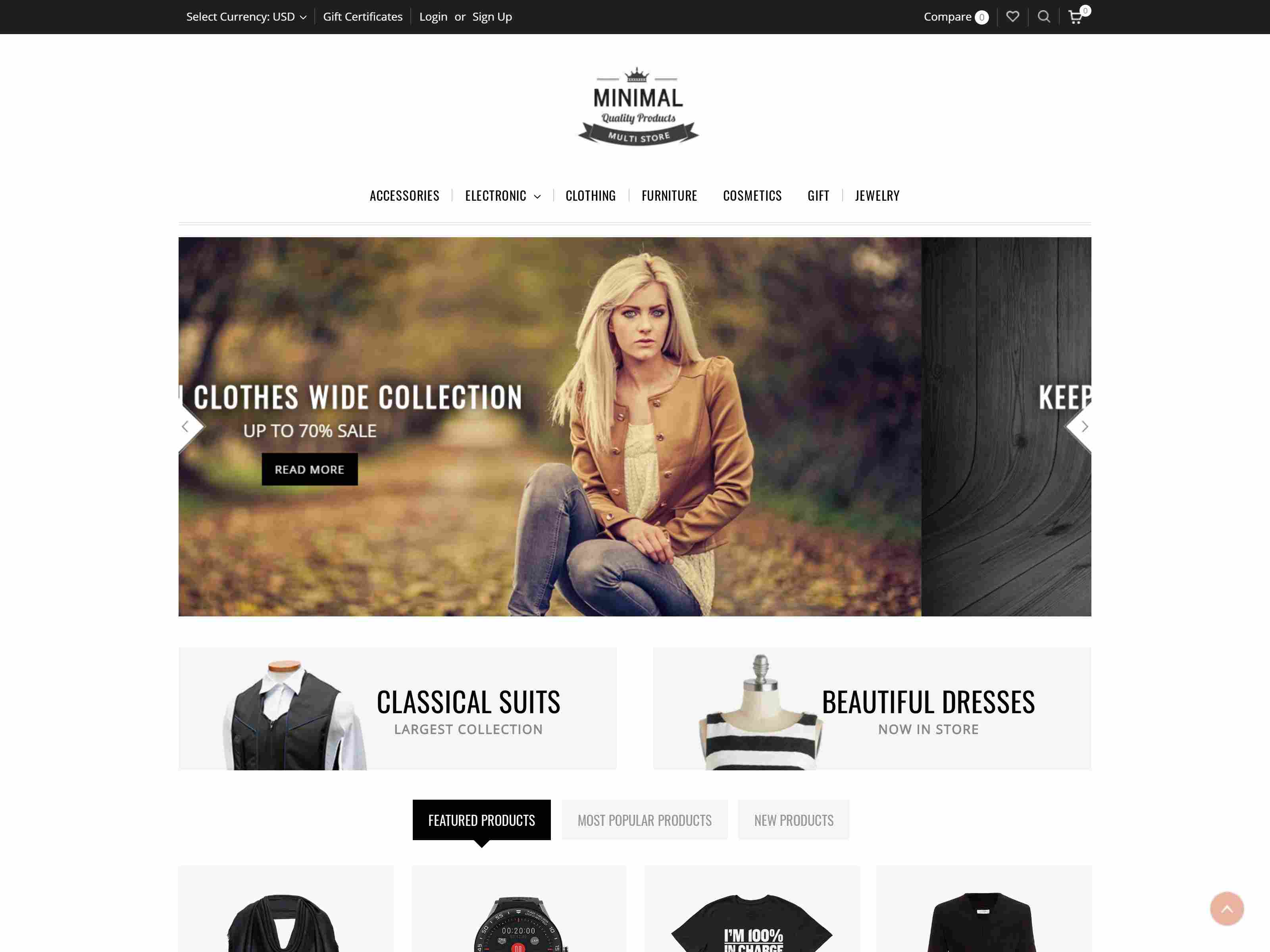 Minimal - Multipurpose Stencil BigCommerce Theme Clothing BigCommerce Themes