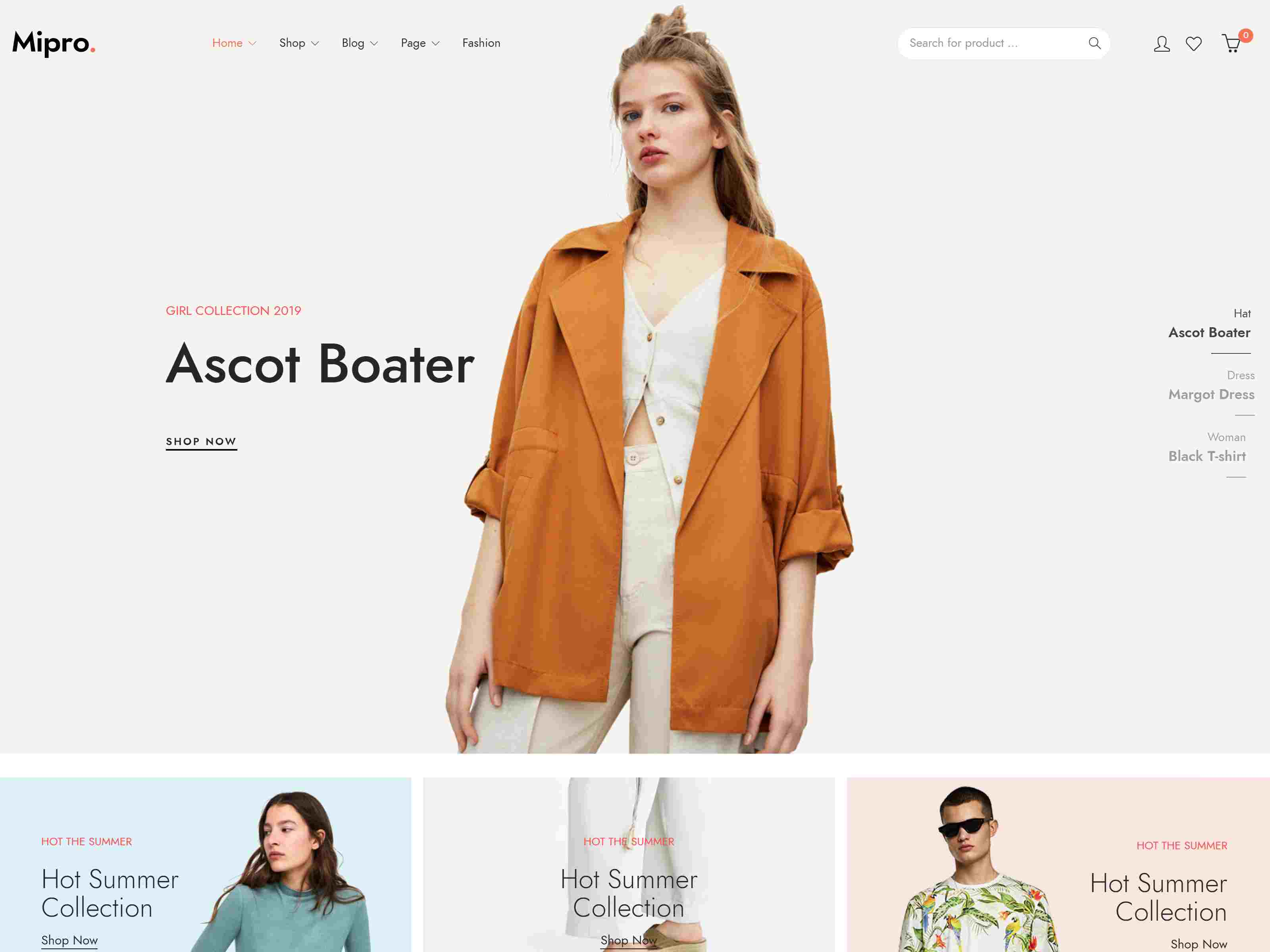 Mipro - Minimal WooCommerce WordPress Theme