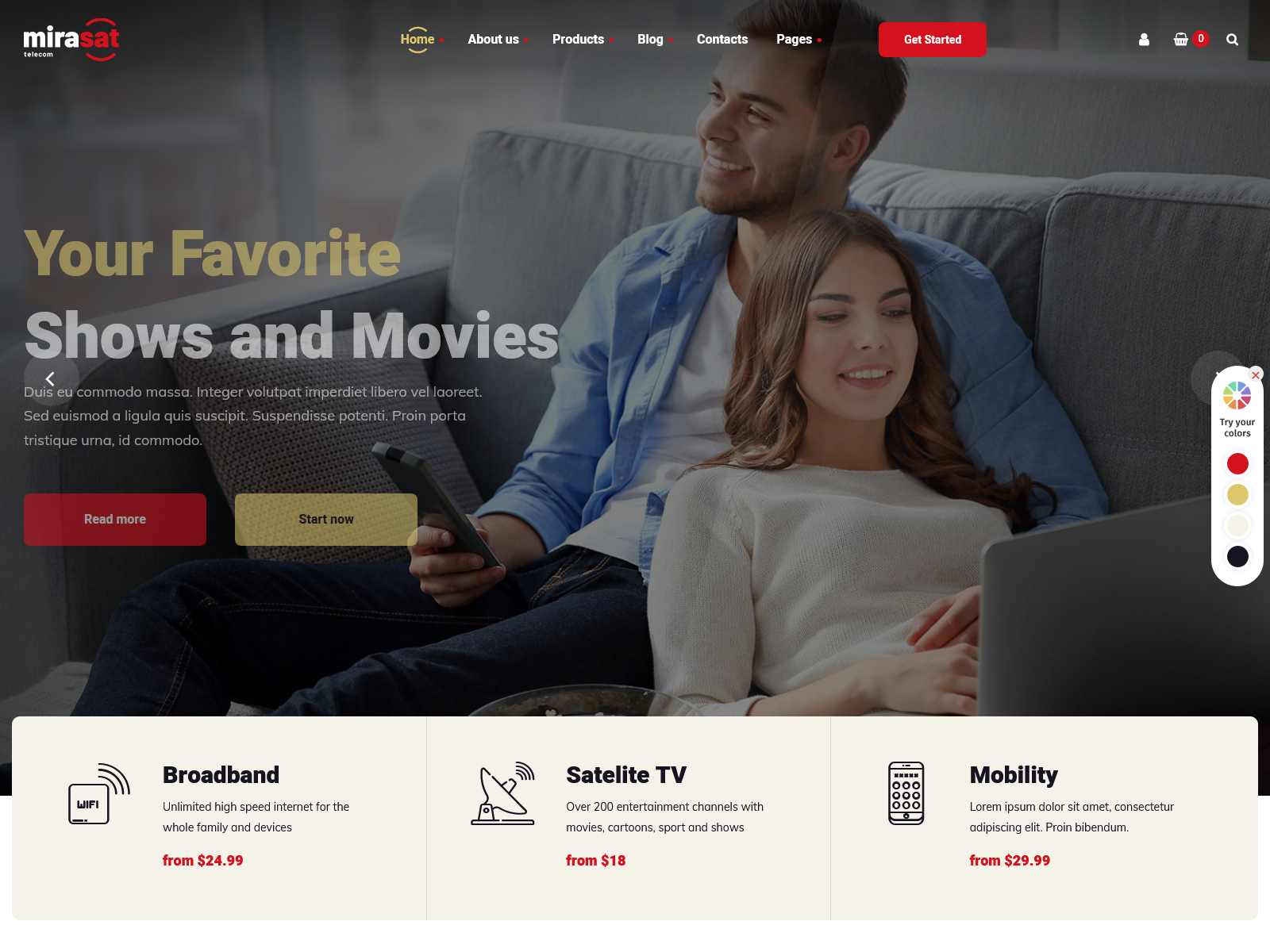 Best Premium Brodband WordPress Themes