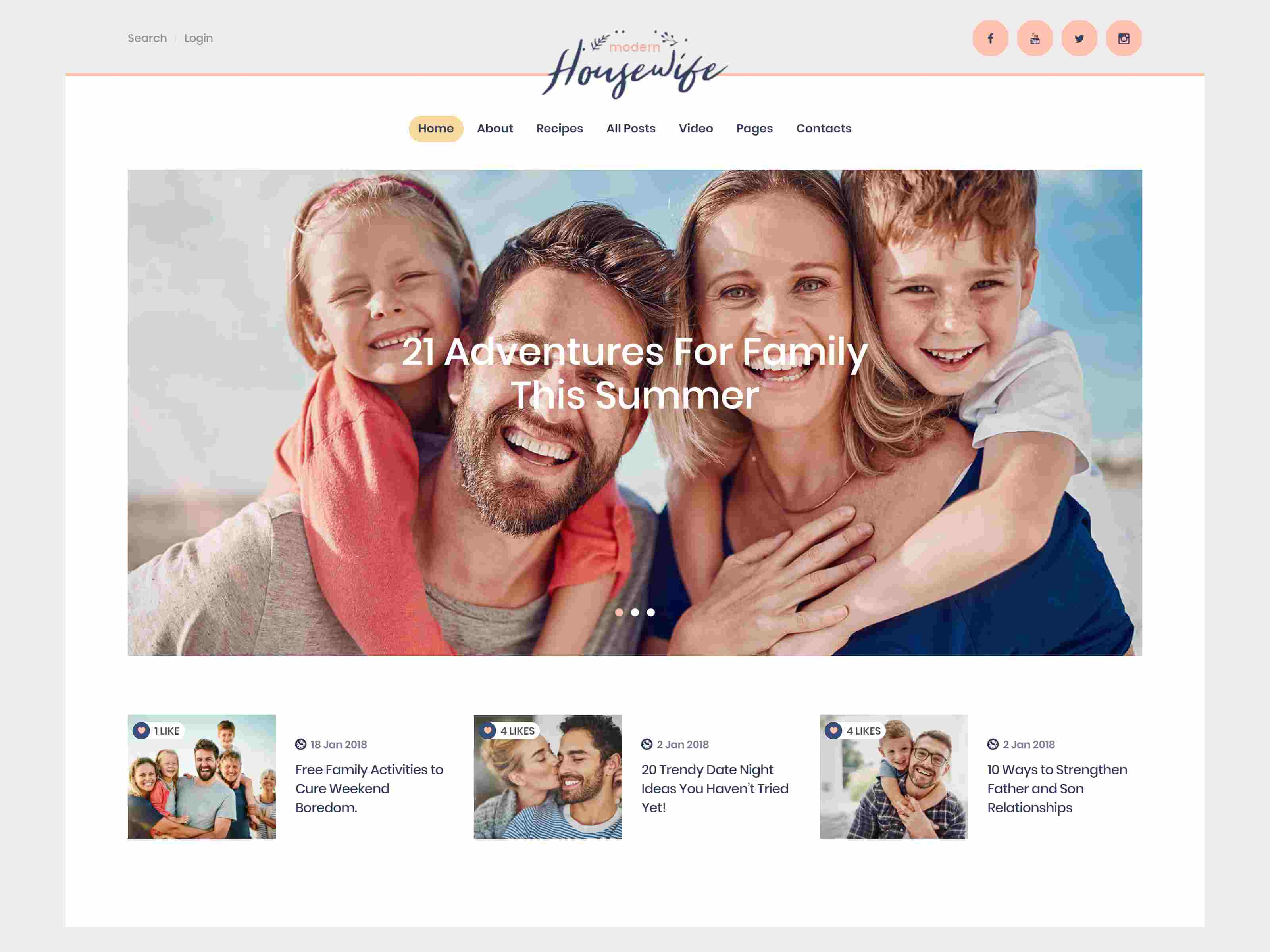 Modern Housewife | Women & Family WordPress Blog Theme wordpress news themes