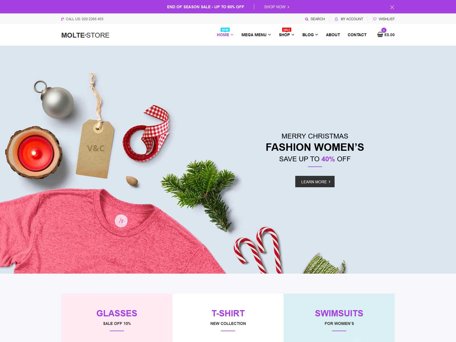Molte - Store Fashion and Food WooCommerce Theme