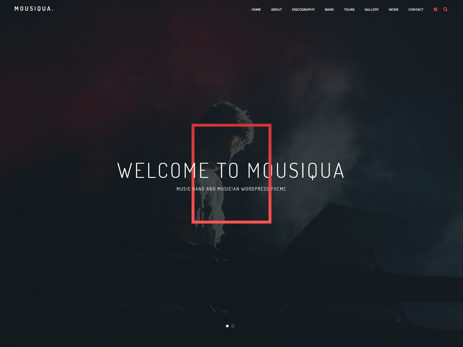 Mousiqua | Music Band & Musician OnePage WordPress Theme