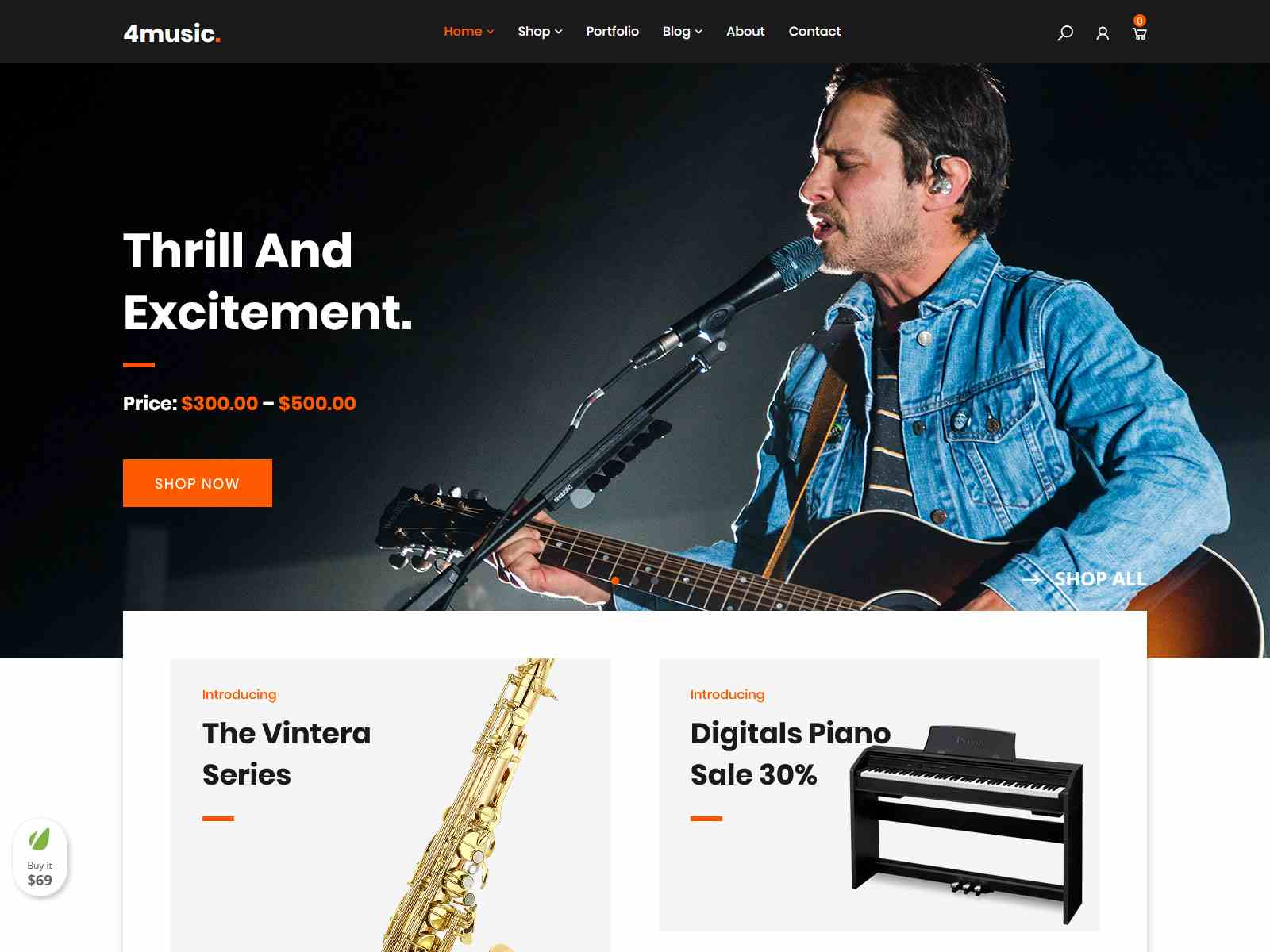 Music - Musical instruments Shop WooCommerce Theme