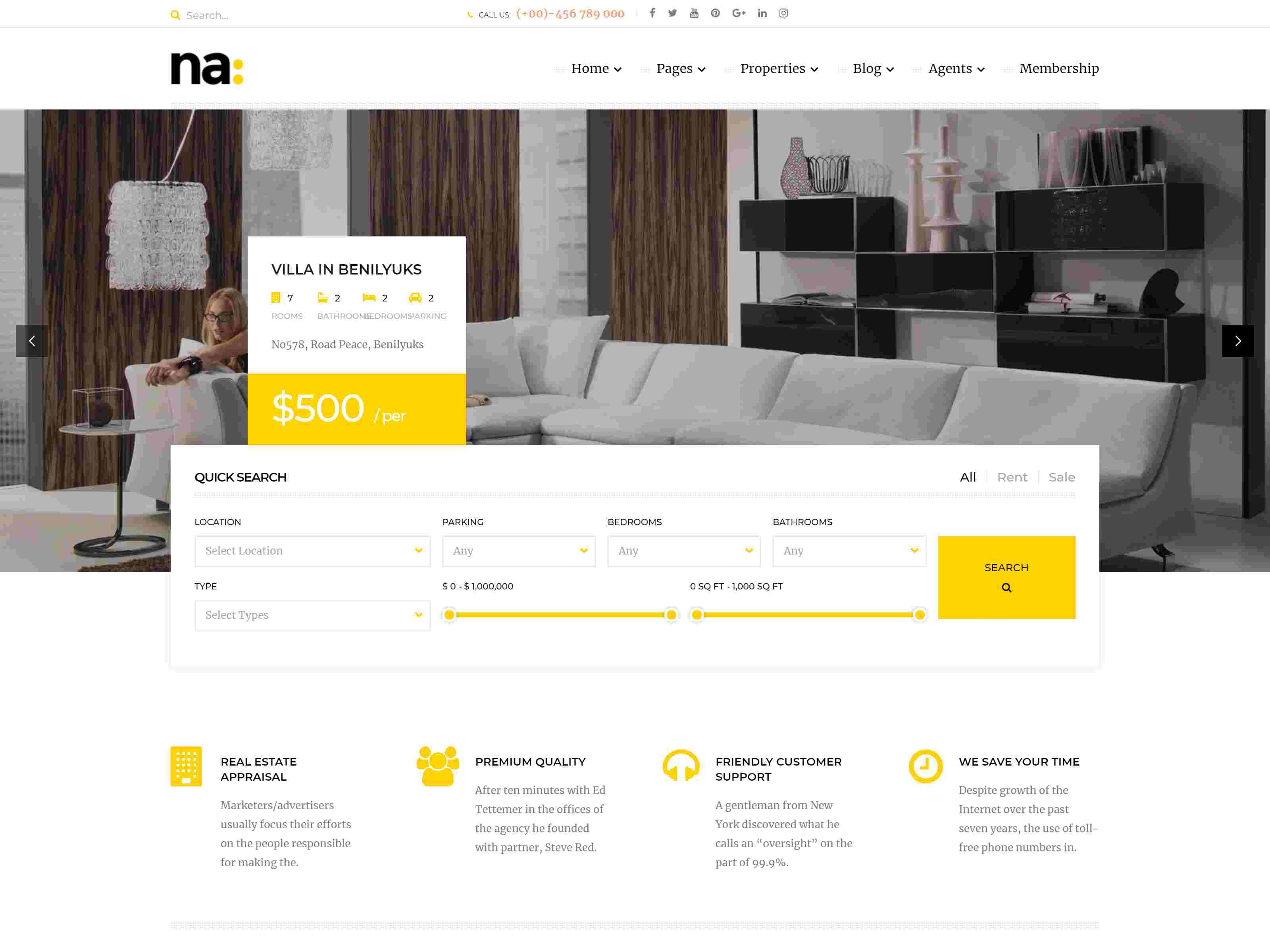 NA - Responsive WordPress Theme for Real Estate real estate wordpress themes