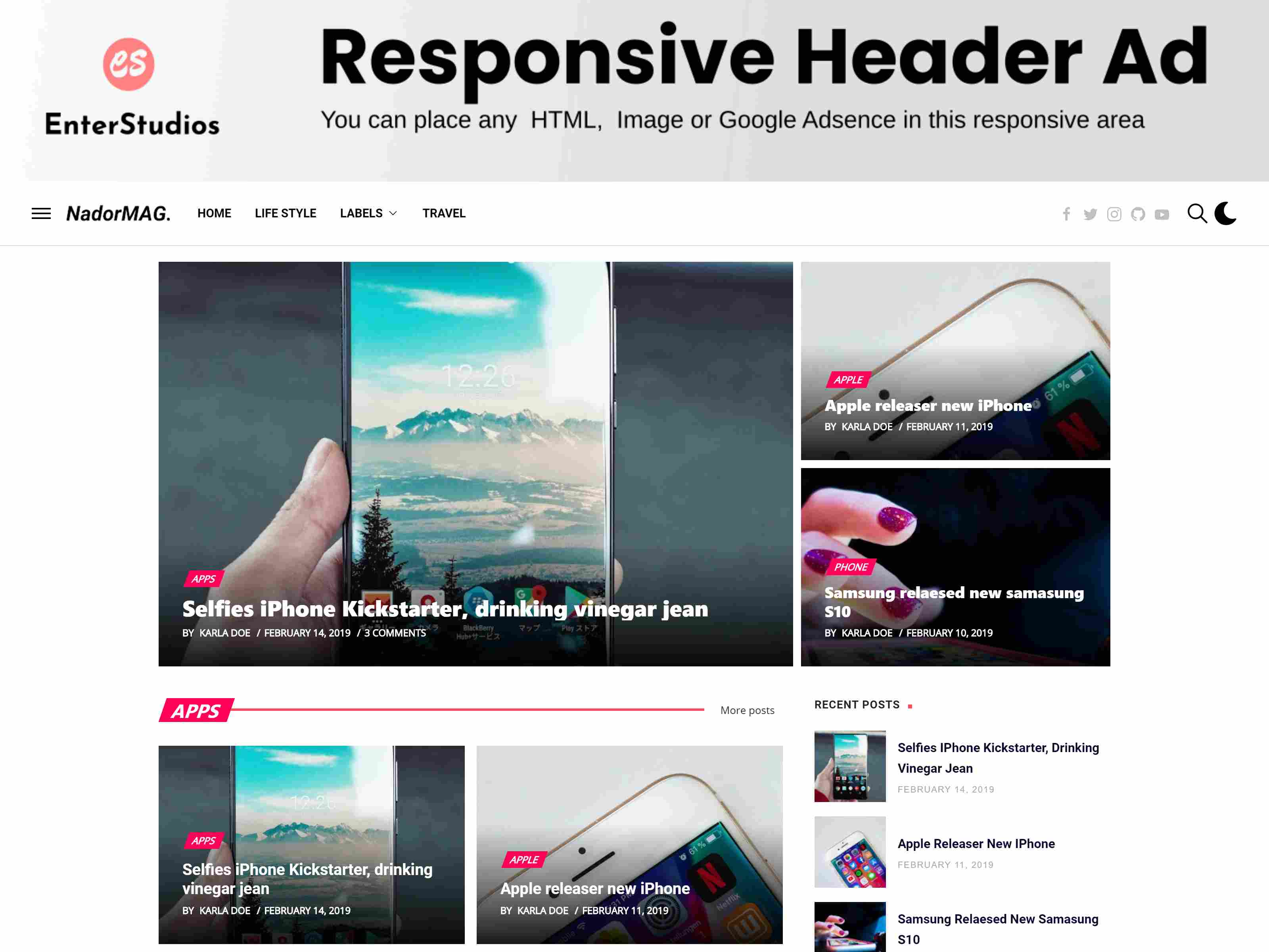 NadorMag - Responsive News & Magazine Blogger Template