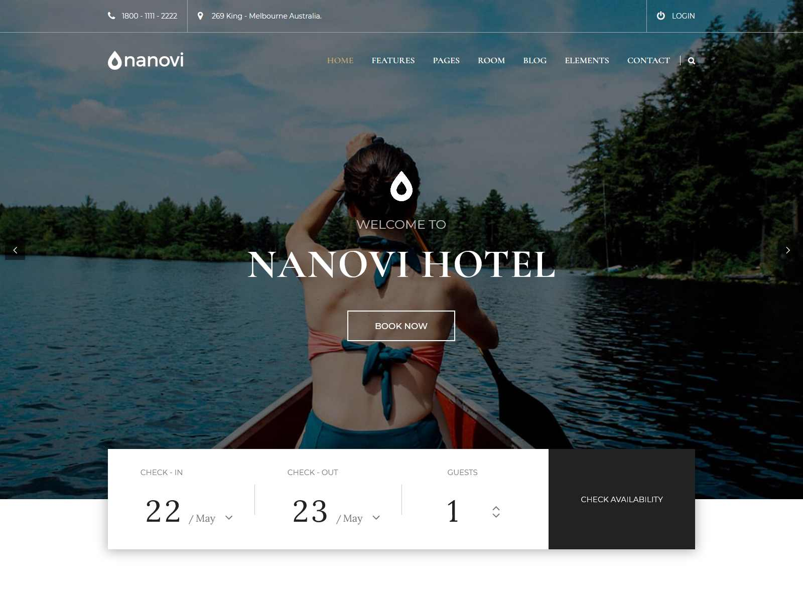 Nanovi - Resort and Hotel WordPress Theme