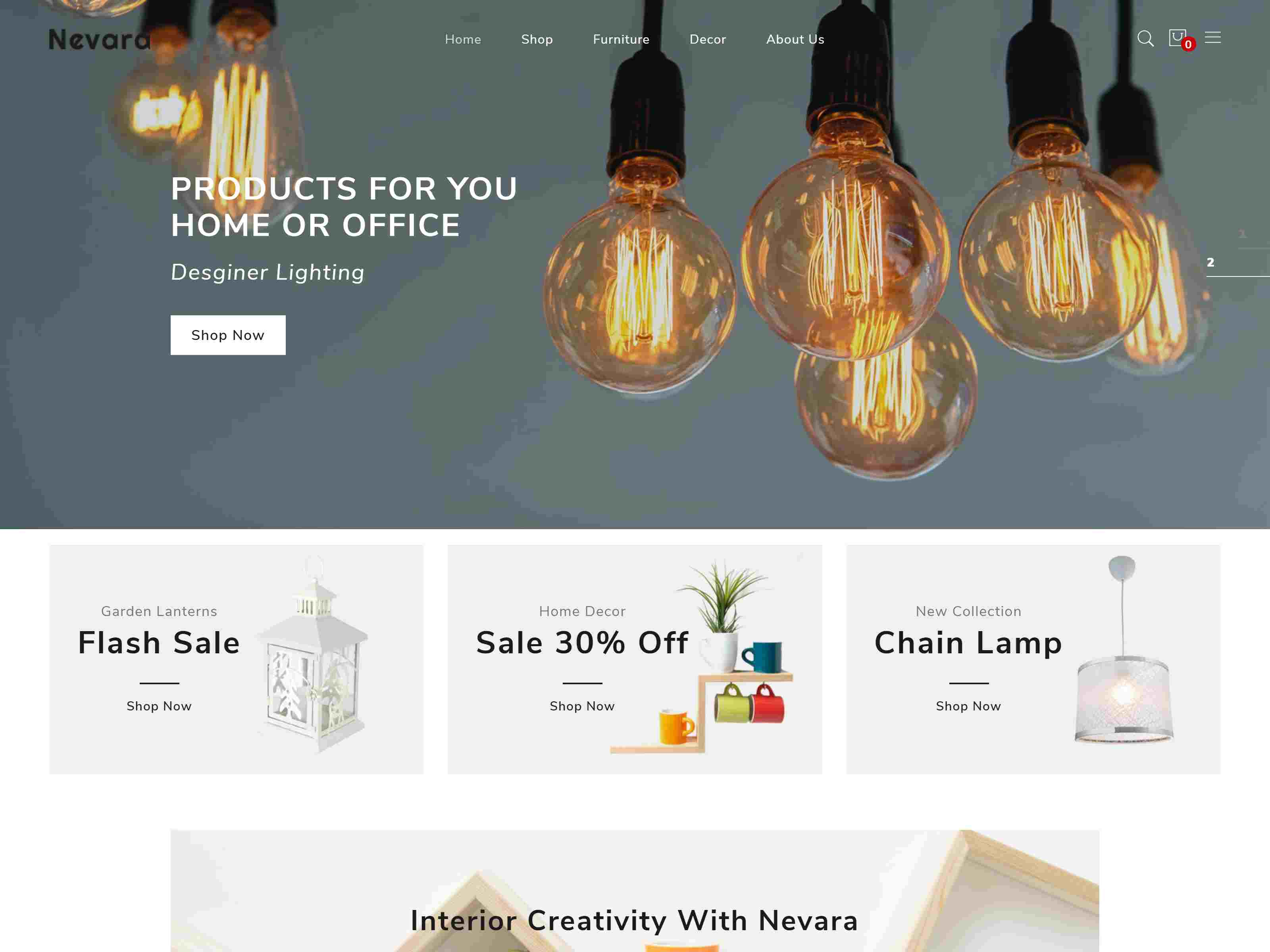 Nevara - Responsive Furniture & Interior PrestaShop Theme