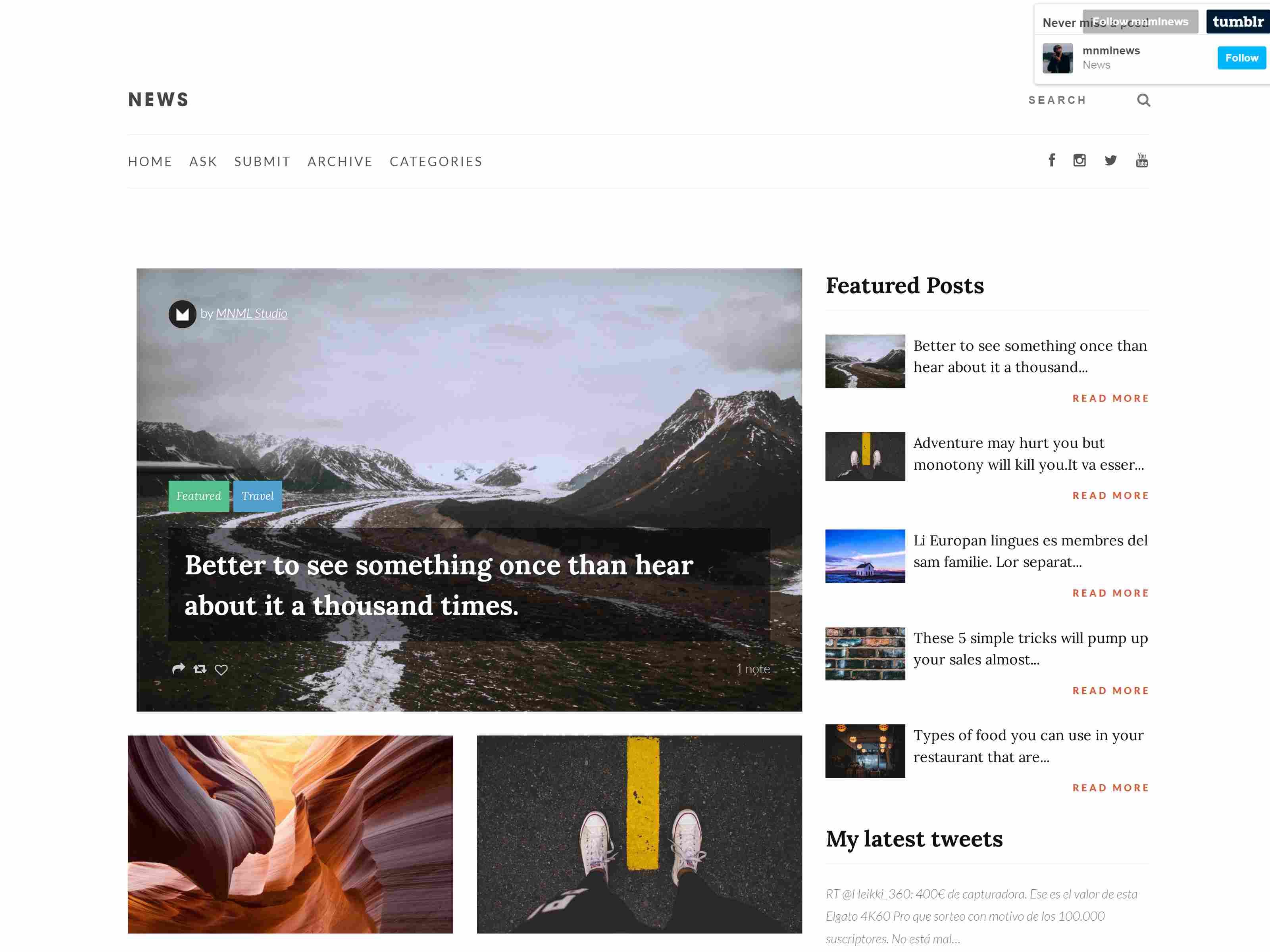 Best Premium News Tumblr Themes