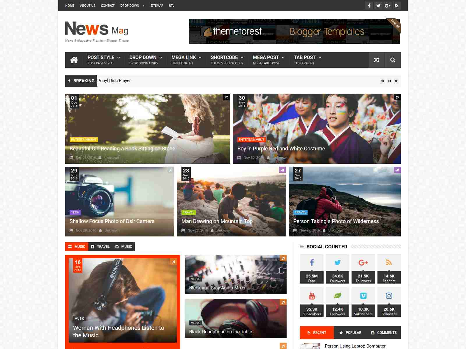 News Mag - Responsive Magazine Blogger Template