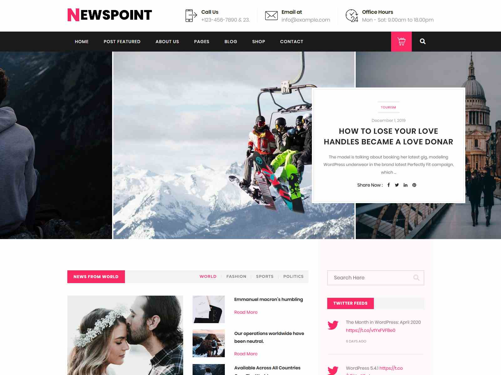 Newspoint - Blogging WordPress Theme wordpress news themes
