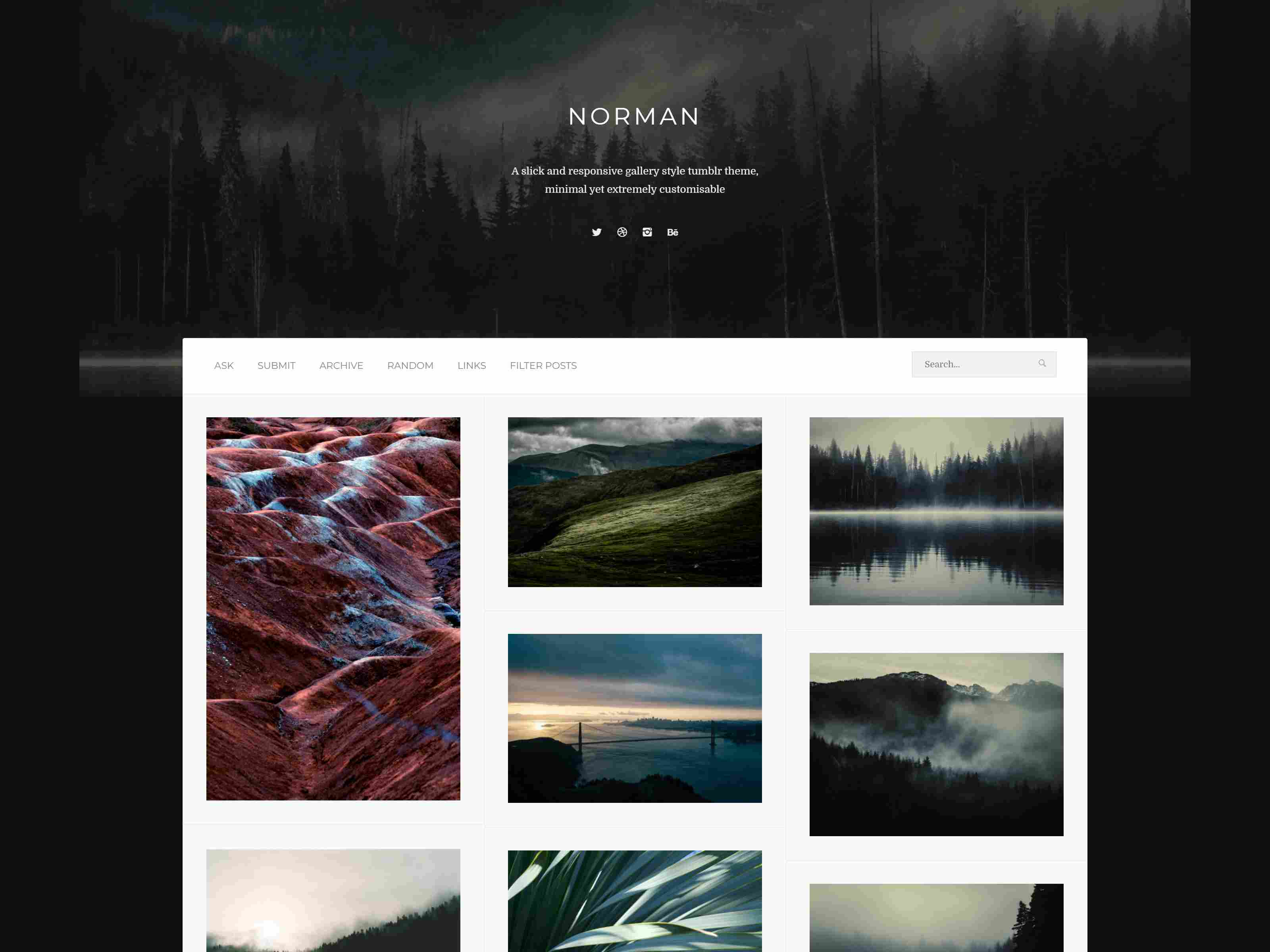 Norman - Responsive Grid Theme