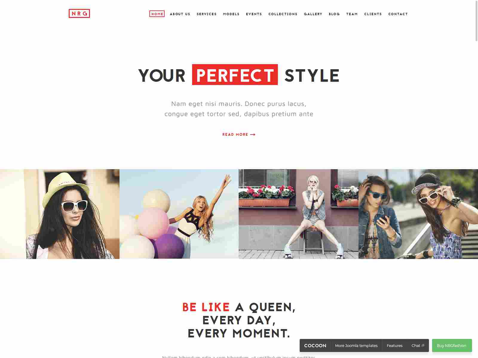 NRGfashion - Model Agency/Fashion Template