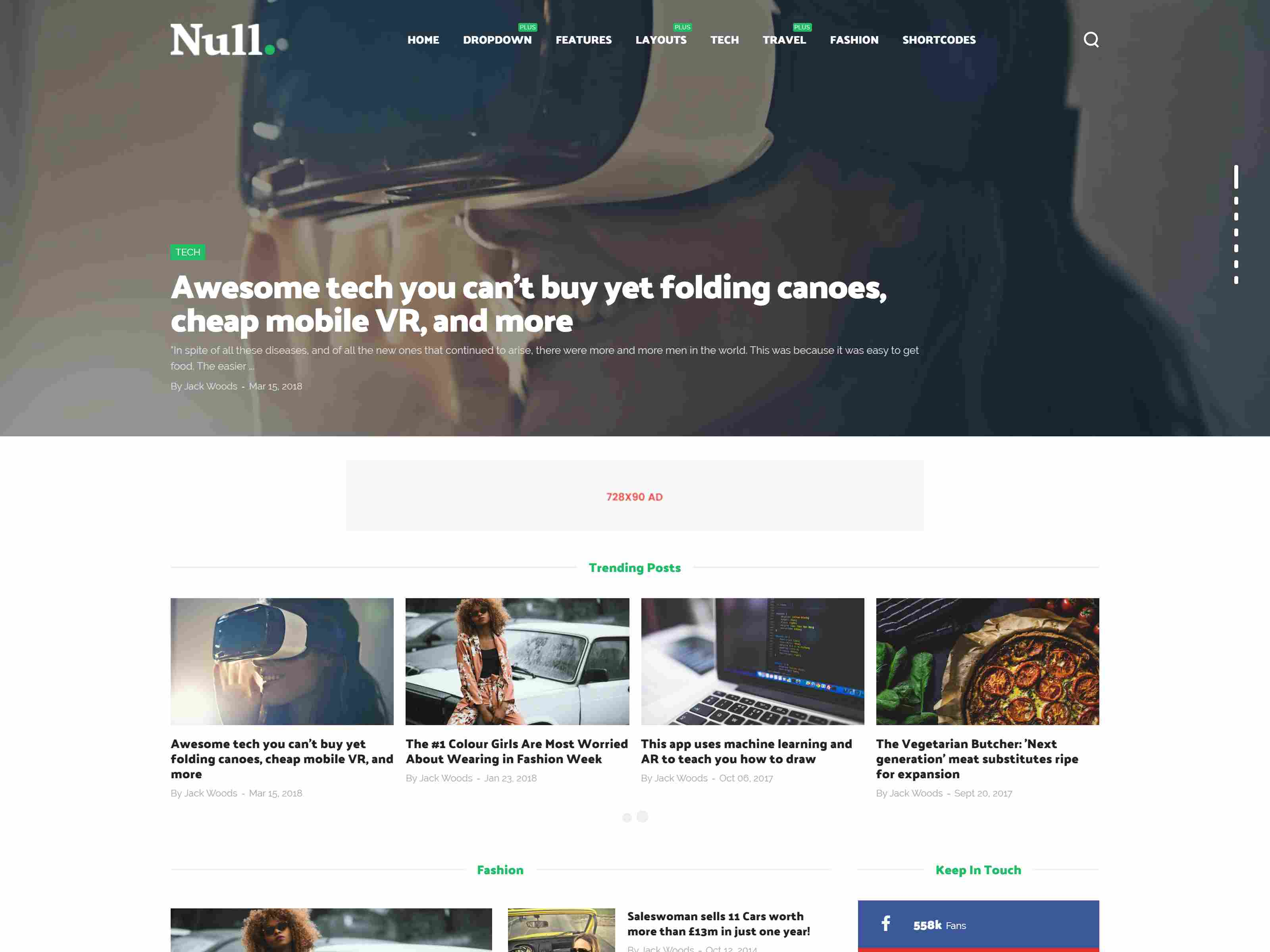 Null - News & Editorial Magazine Blogger Theme