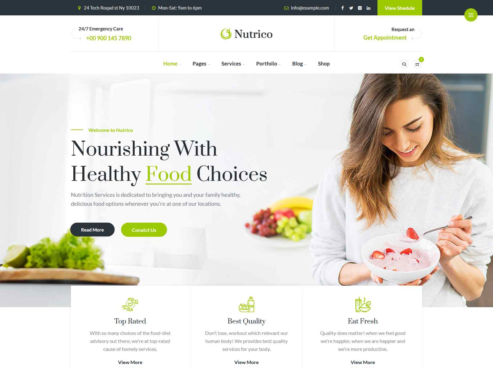 Nutrico - Nutrition Health Services WordPress Theme Organic WordPress Themes